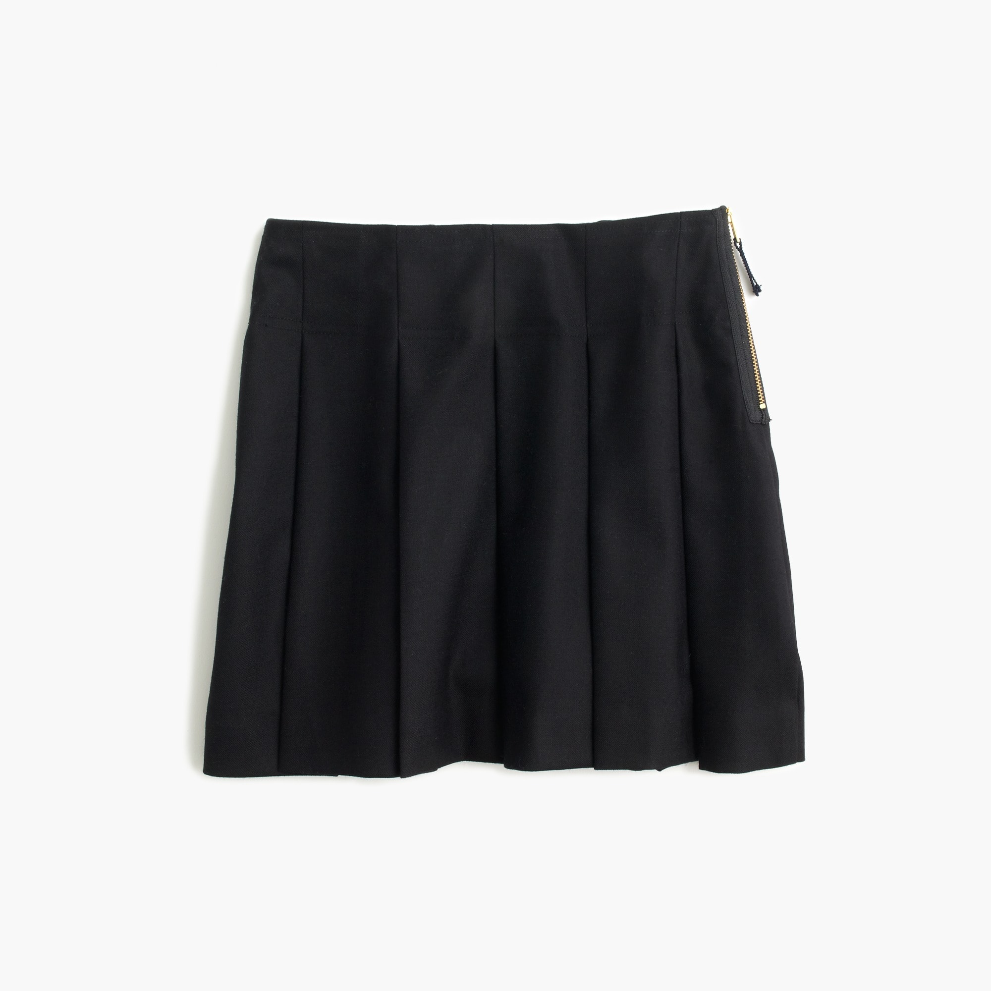 Girls' side-zip flannel skirt