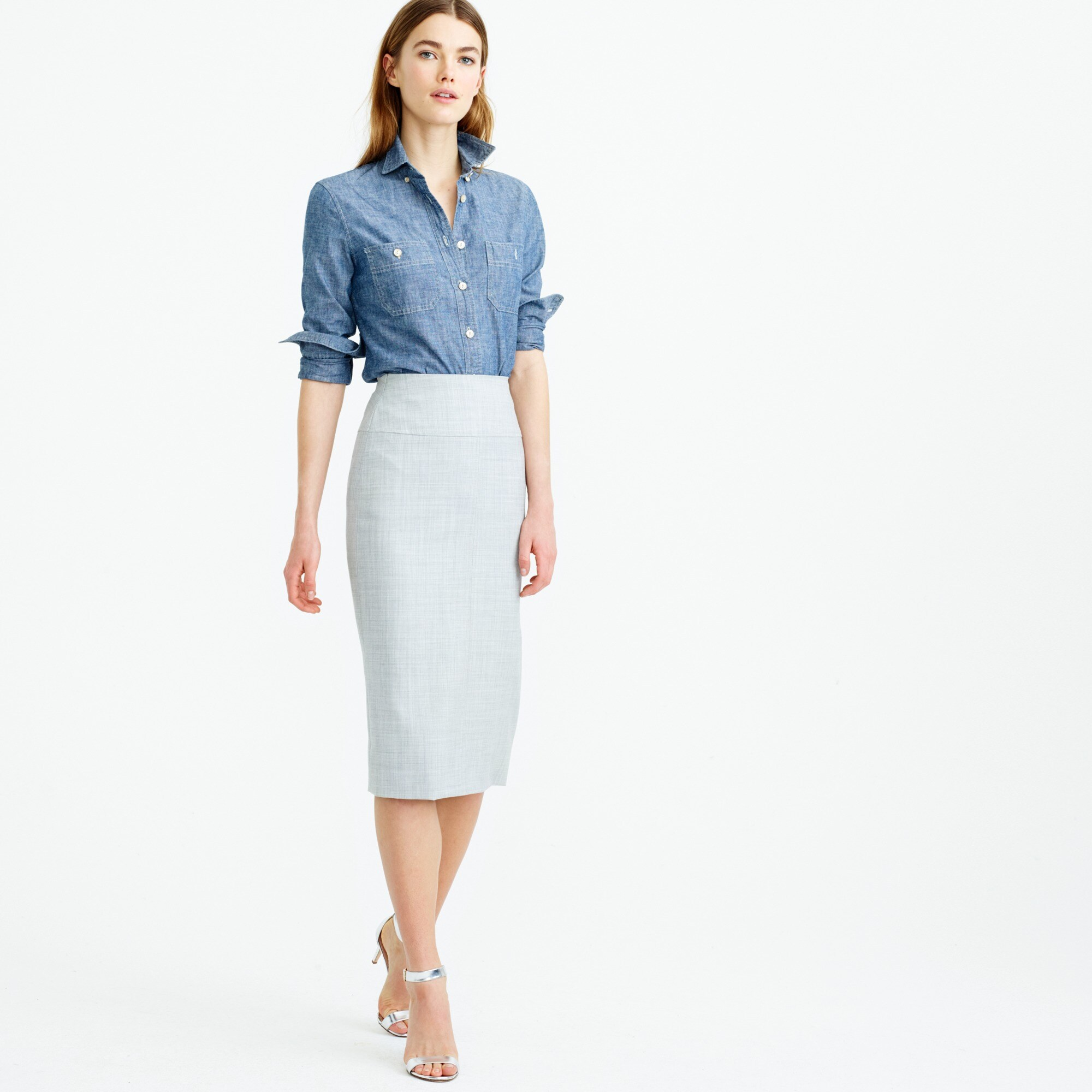 Petite director pencil skirt in Super 120s wool