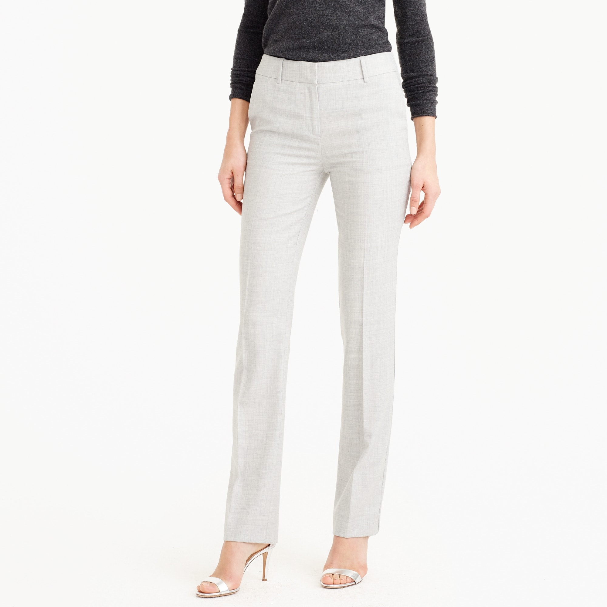 campbell trouser in super 120s wool : women's suit pants