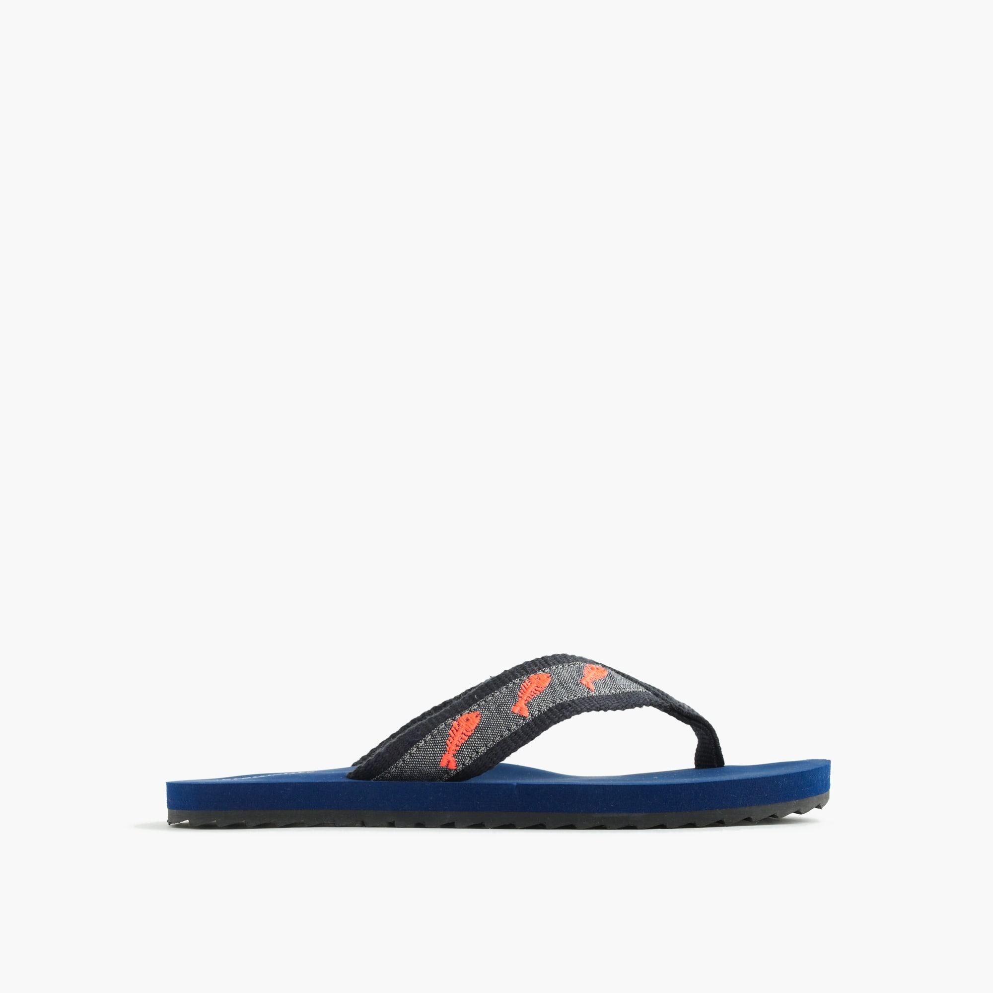 Image 1 for Boys' fish critter flip-flops