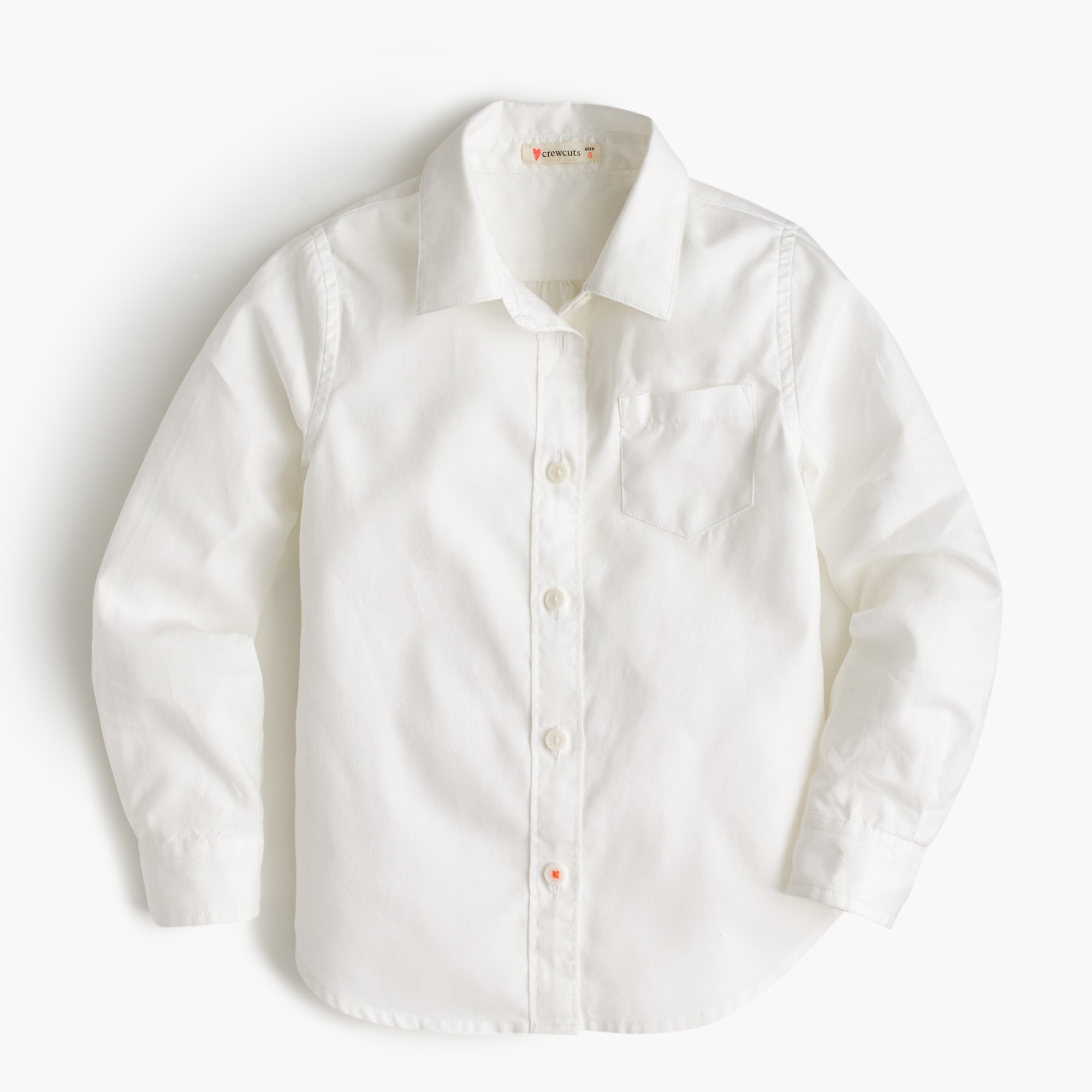 Image 1 for Girls' long-sleeve tissue oxford shirt