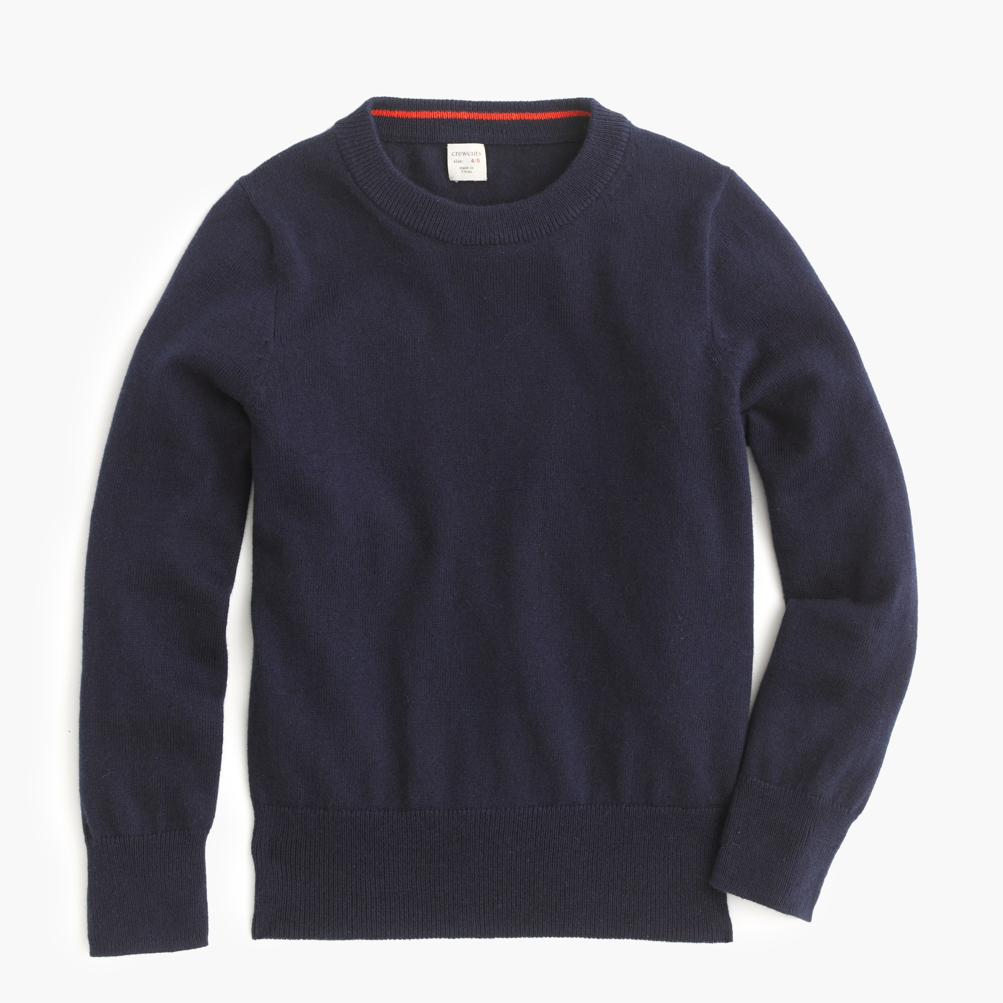 Boys' cotton-cashmere crewneck sweater
