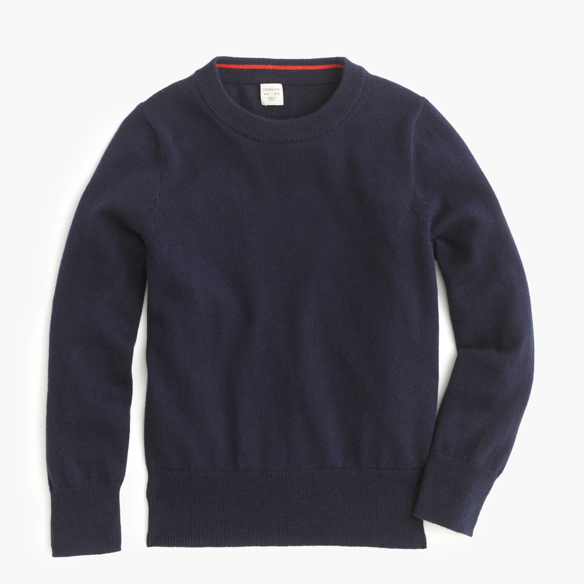 boys' cotton-cashmere crewneck sweater - boys' tops