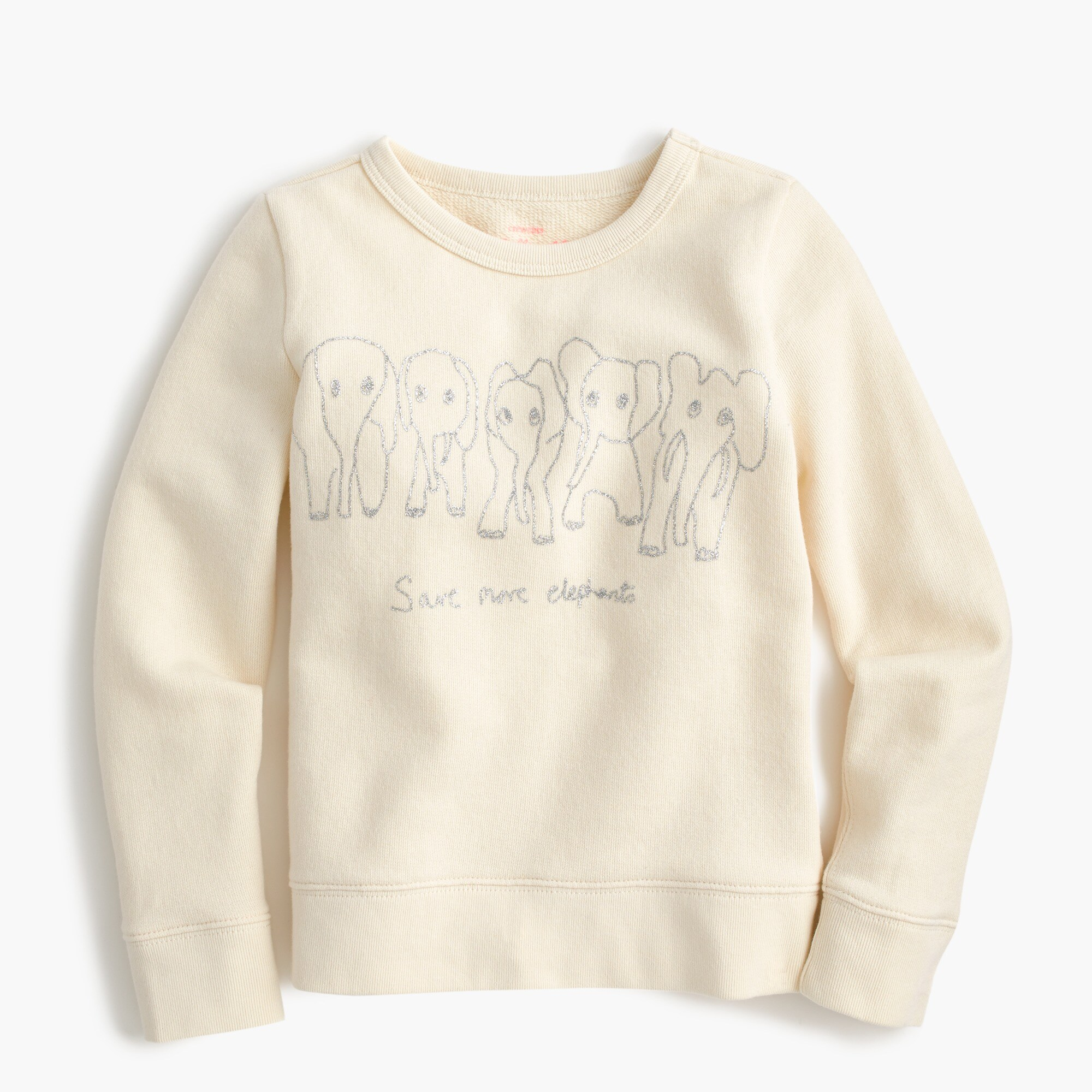 girls' girls' crewcuts for david sheldrick wildlife trust save more elephants sweatshirt - girls' tops