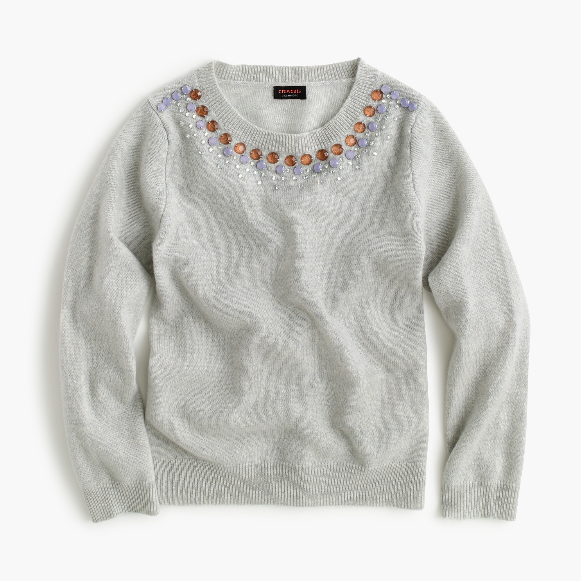 Girls' cashmere necklace sweater