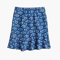 Flutter mini skirt in vintage scarf print