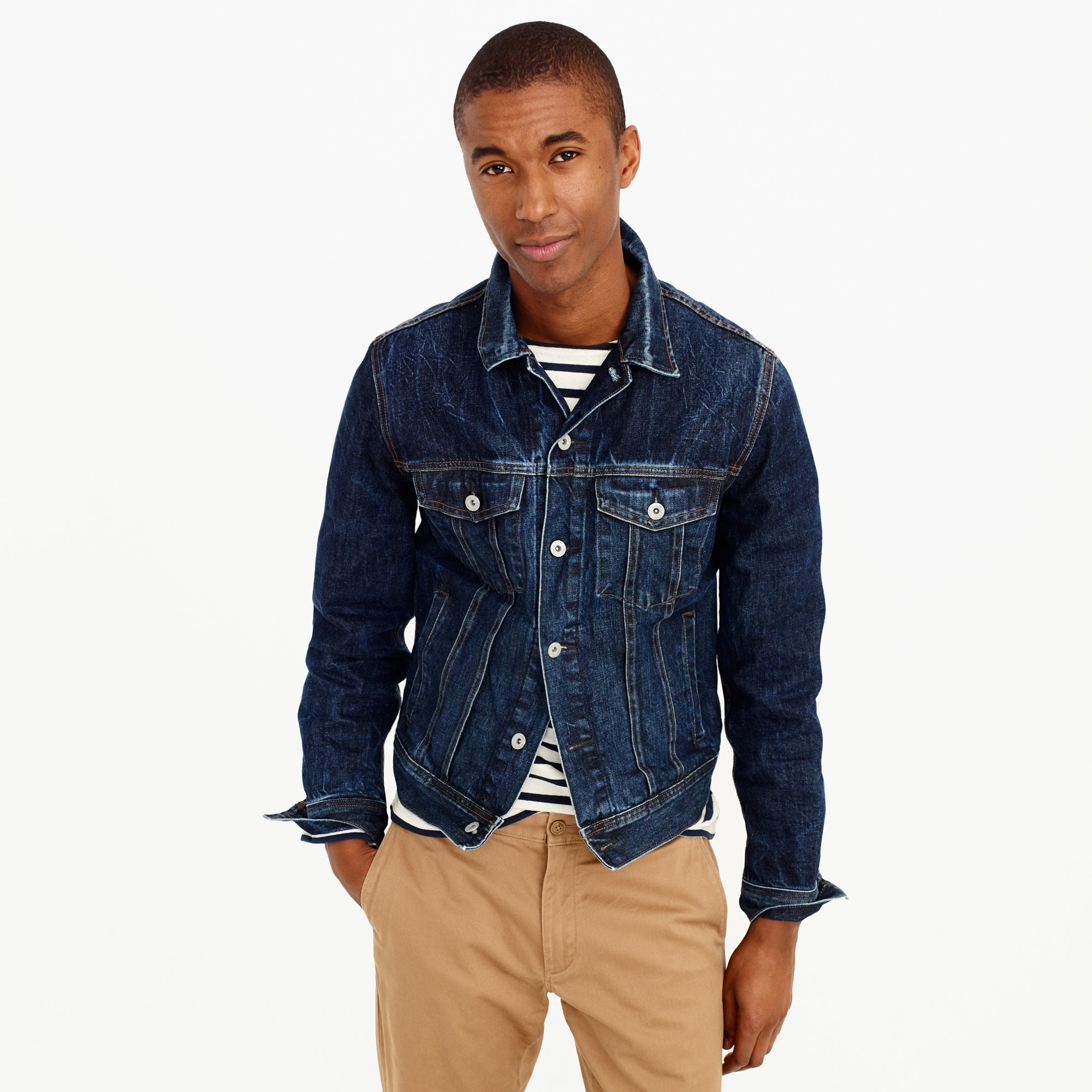 men's denim jacket in walden wash - men's outerwear