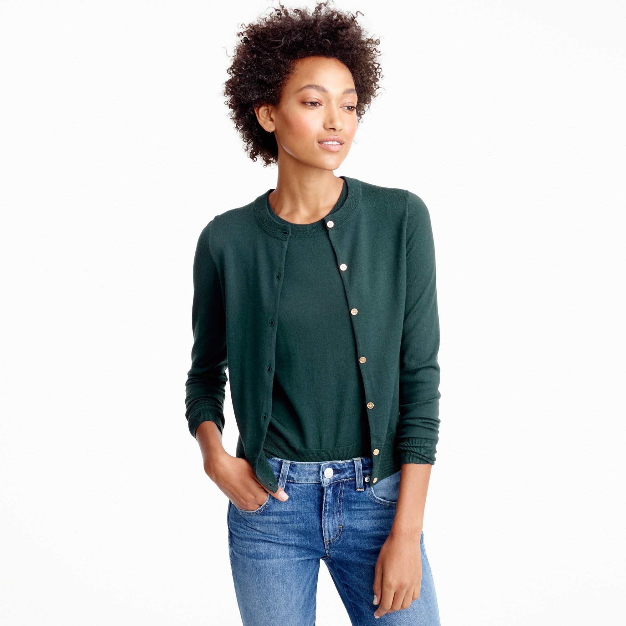 women's lightweight wool jackie cardigan sweater - women's sweaters