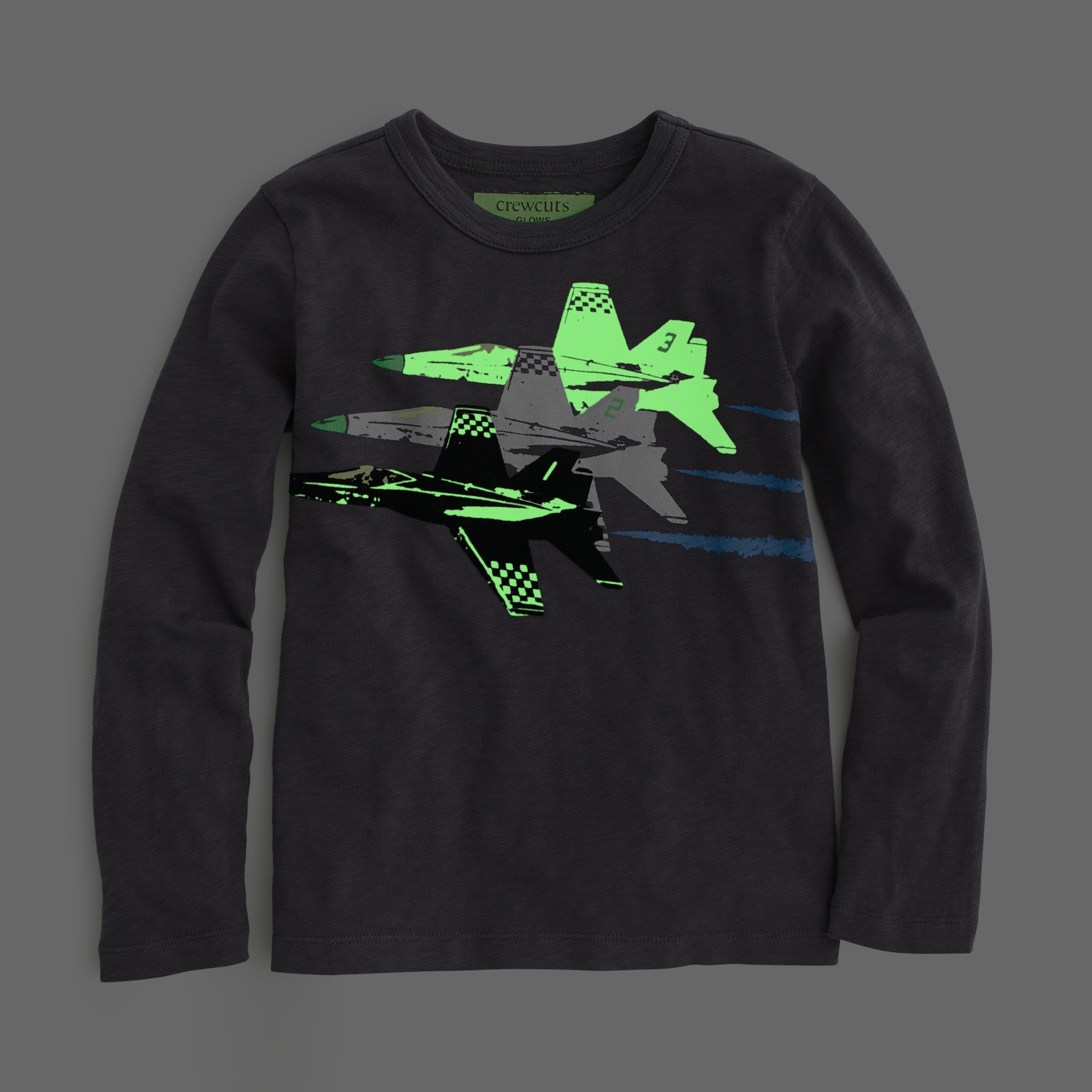Image 4 for Boys' glow-in-the-dark jets T-shirt