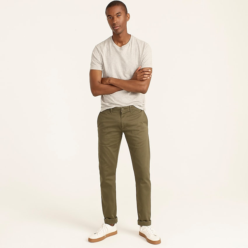 j.crew: 484 slim-fit stretch chino pant for men, right side, view zoomed