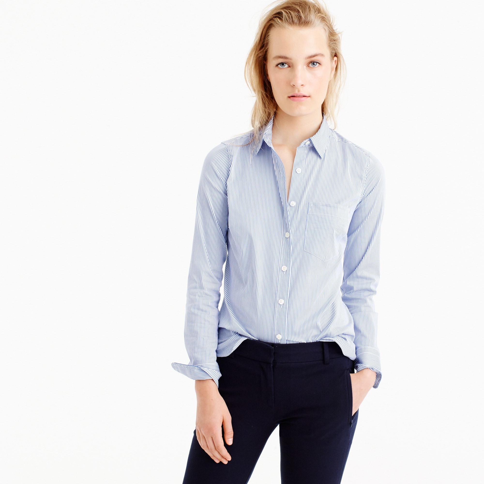 thomas mason for j.crew stretch shirt in stripe : women's shirts