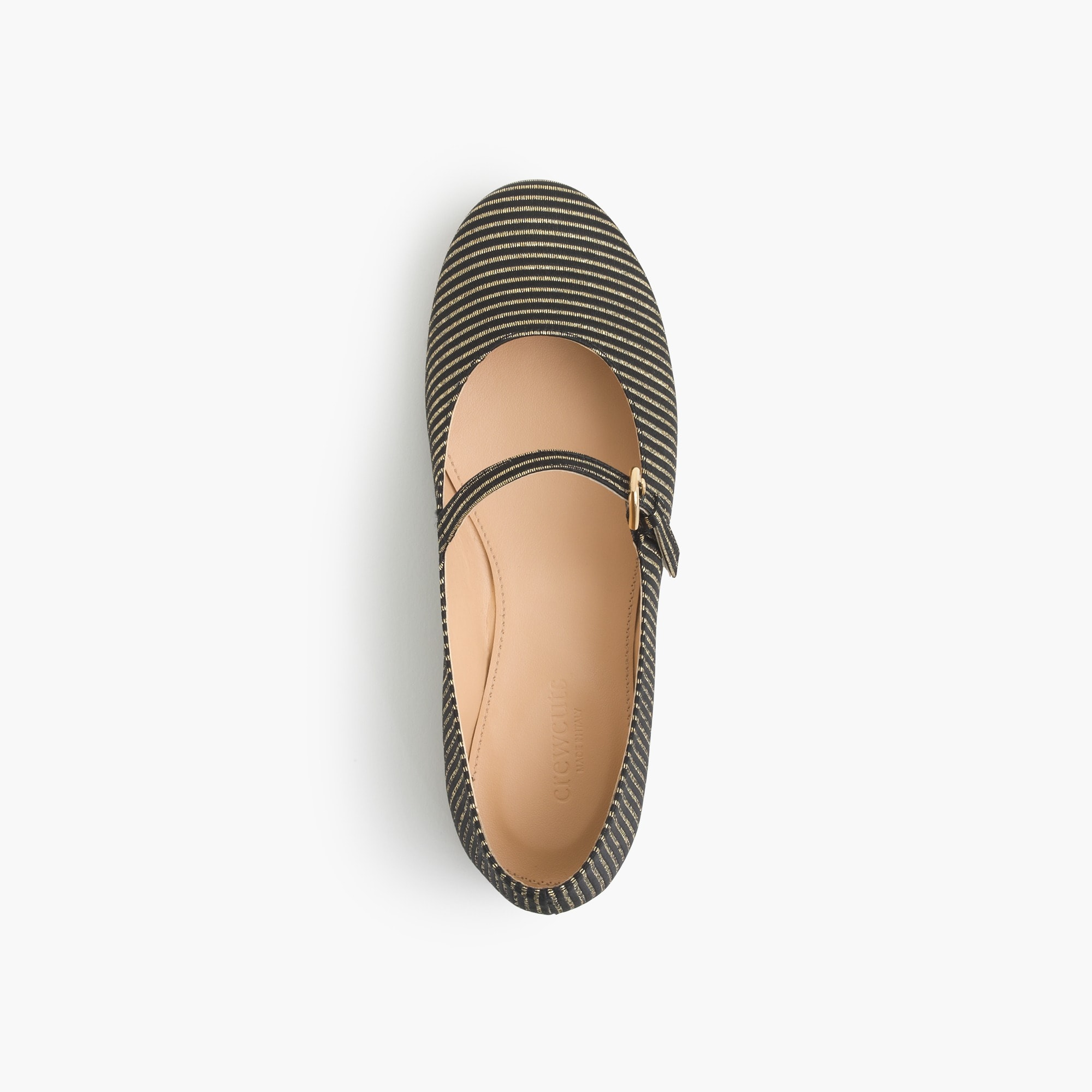 Image 1 for Girls' gold-striped Mary Janes