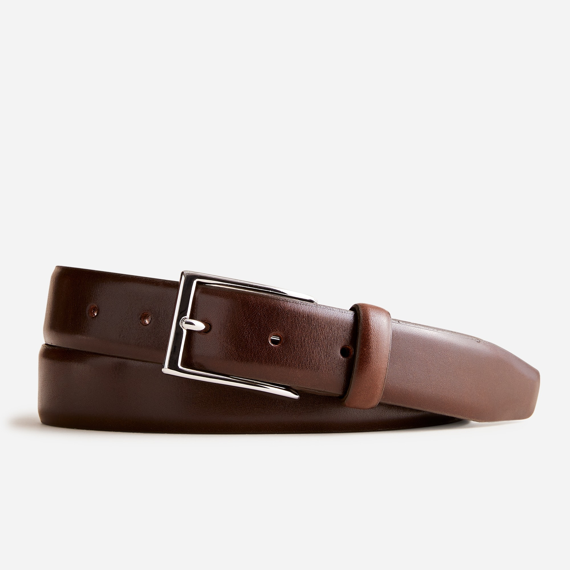 mens Italian leather dress belt