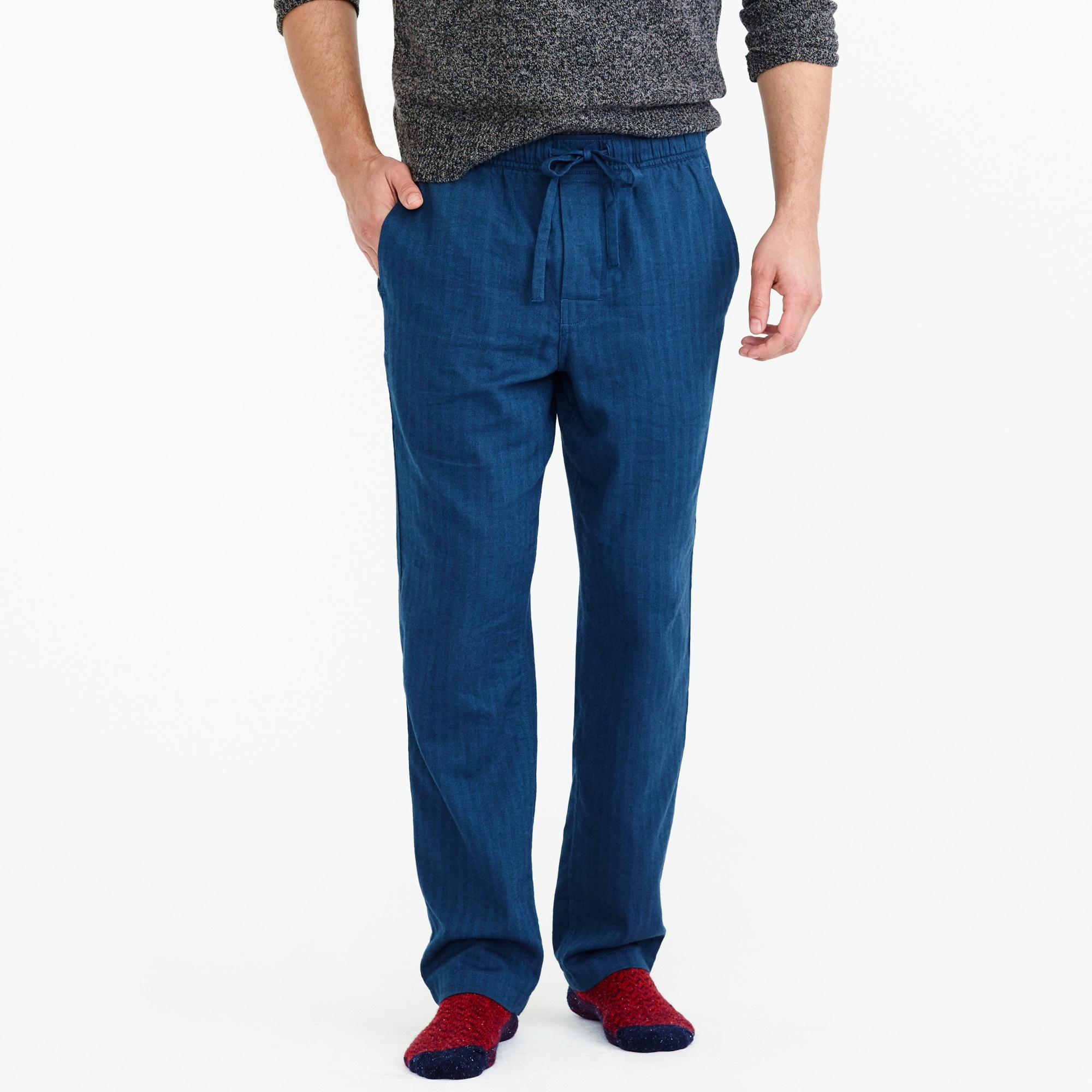 flannel pajama pant in herringbone : men's sleepwear