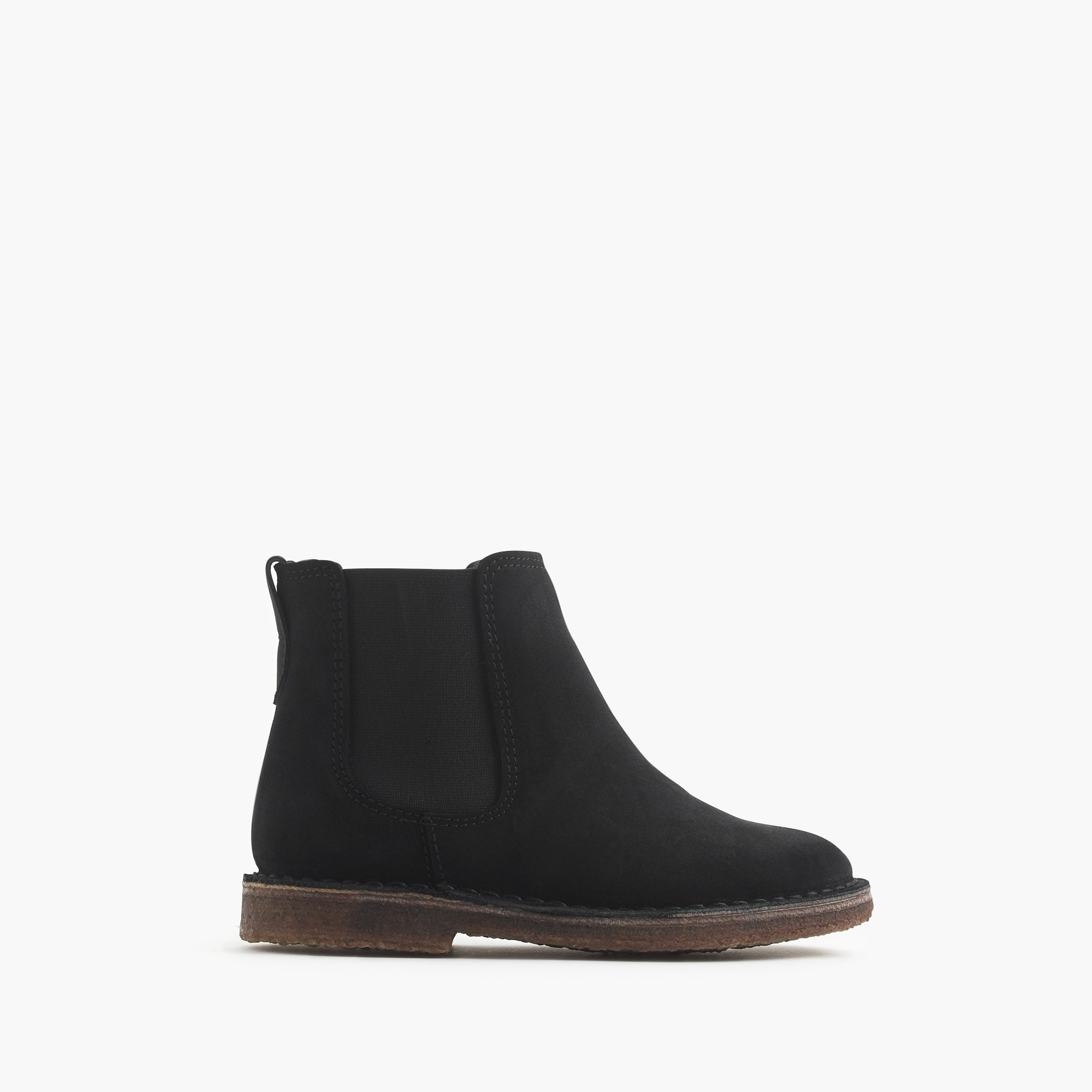 Image 2 for Girls' suede Chelsea boots with sherpa lining