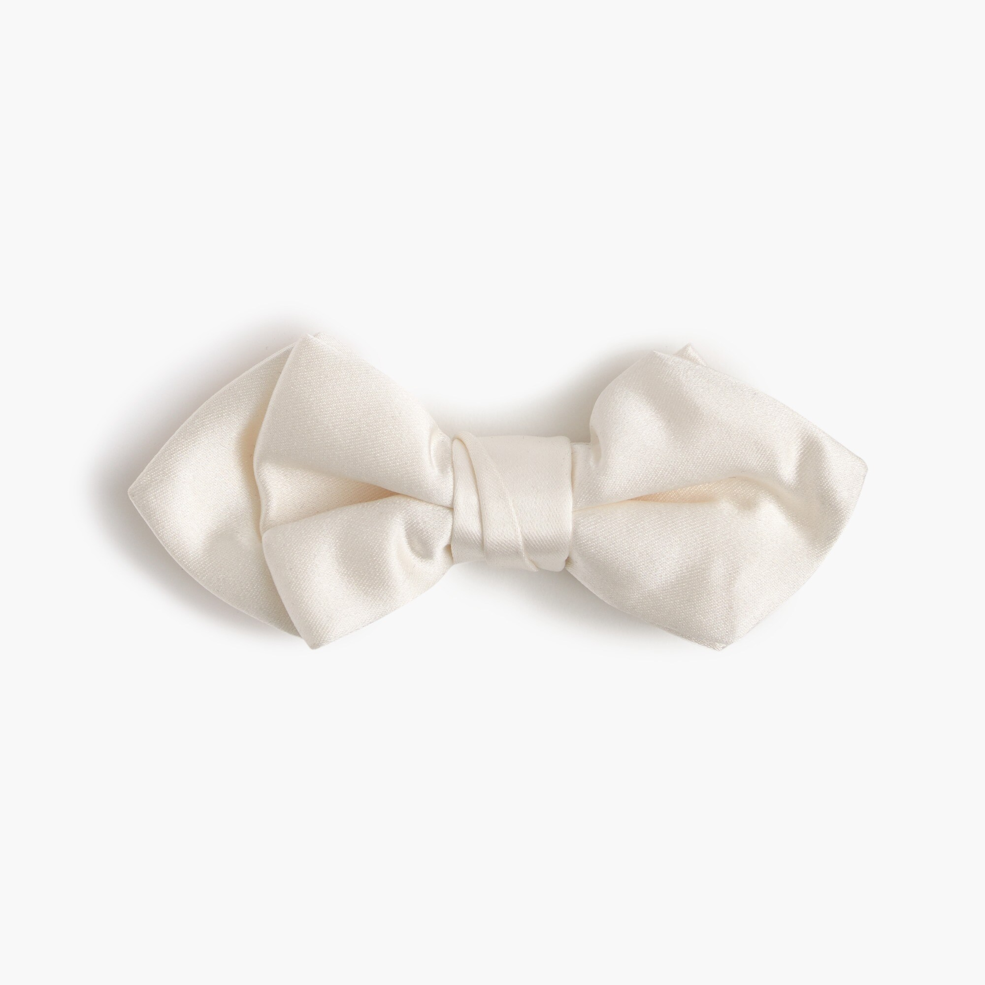 Boys' Italian satin bow tie in white