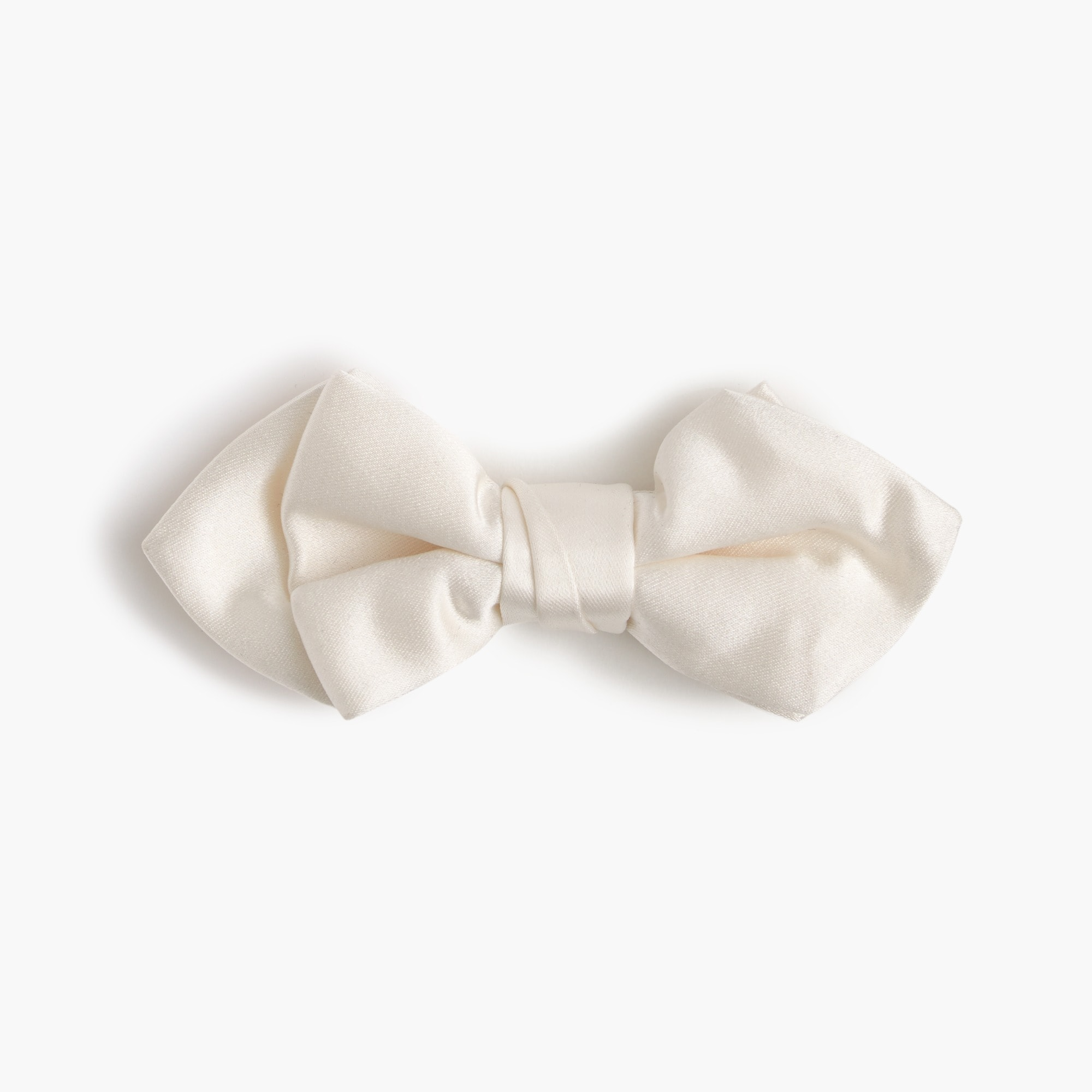 boys' italian satin bow tie in white : boys' ties