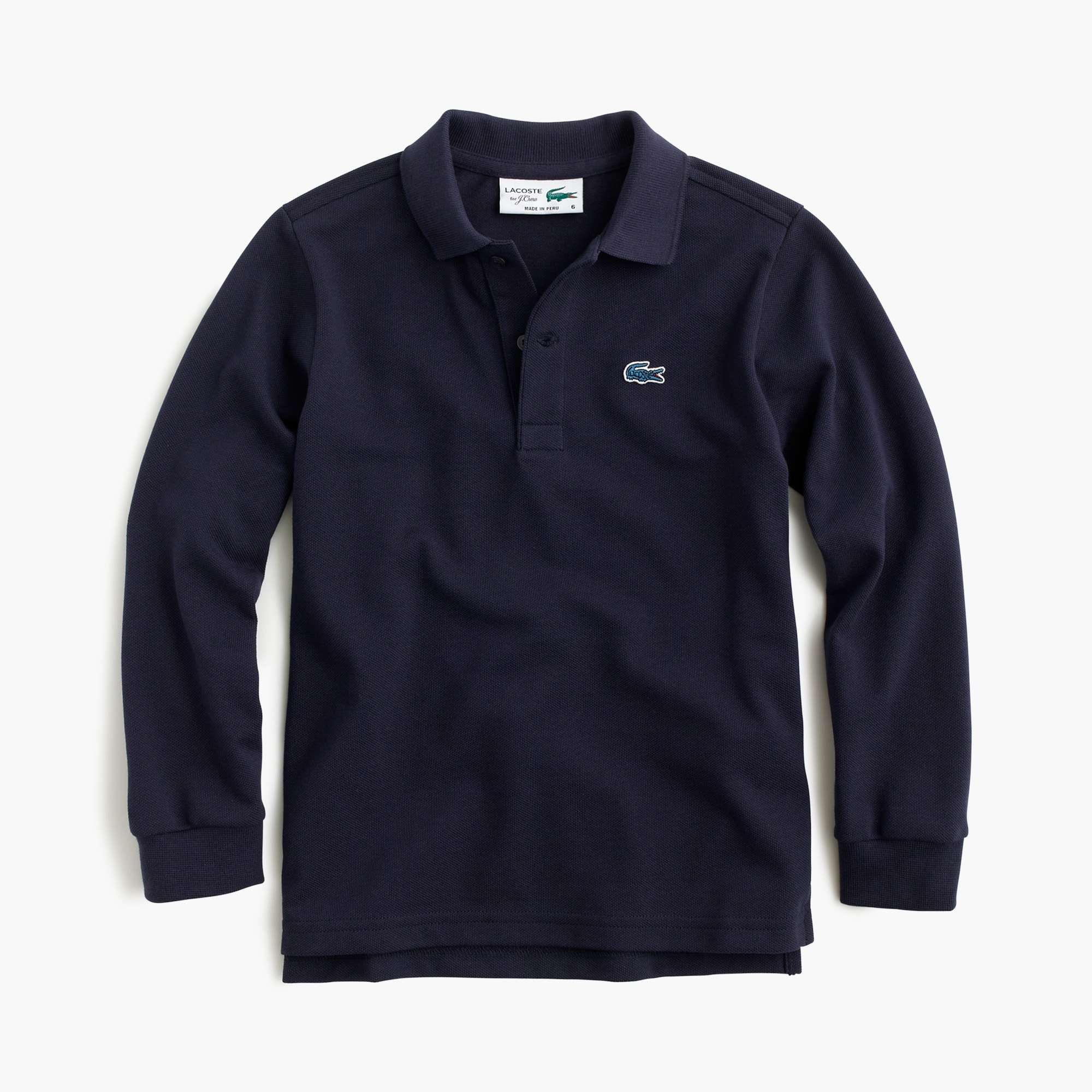 Kids' Lacoste® for J.Crew long-sleeve polo shirt boy j.crew in good company c