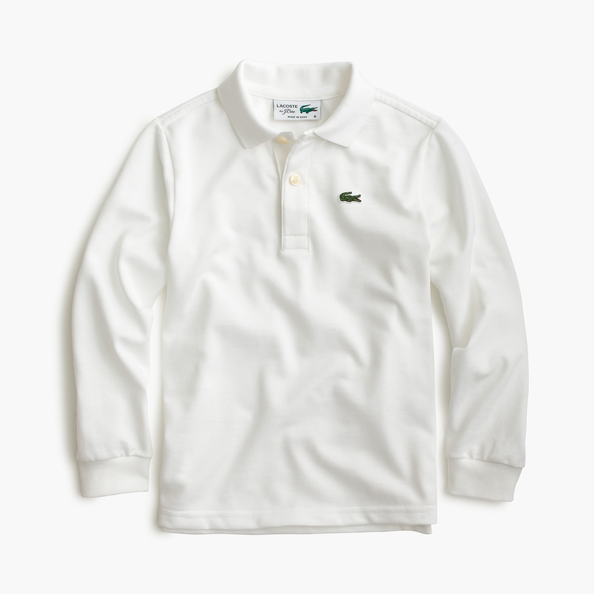 Kids' Lacoste® for J.Crew long-sleeve polo shirt girl j.crew in good company c