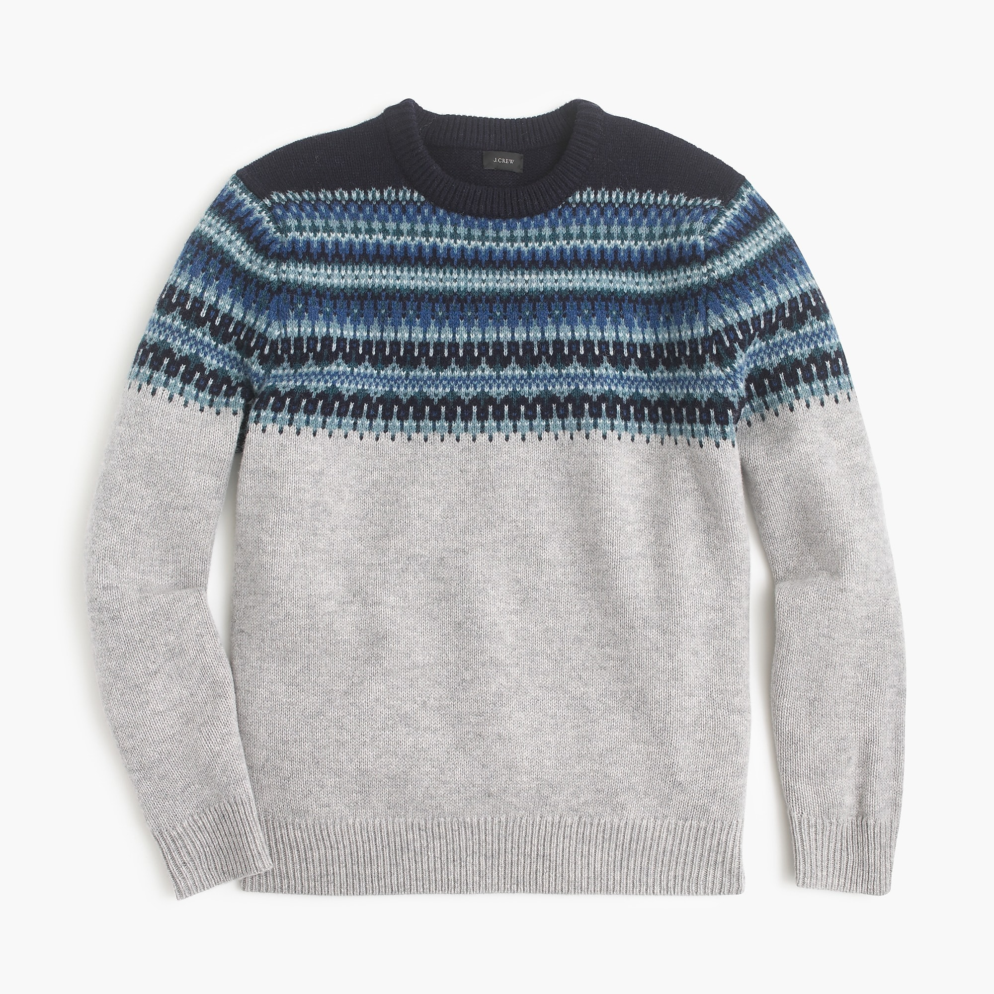 Lambswool Fair Isle sweater in navy : | J.Crew