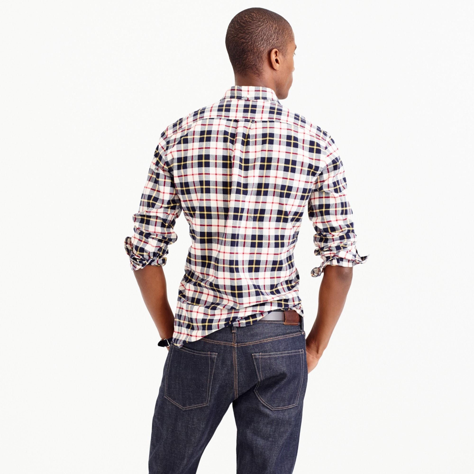 Slim vintage oxford shirt in Kelly plaid