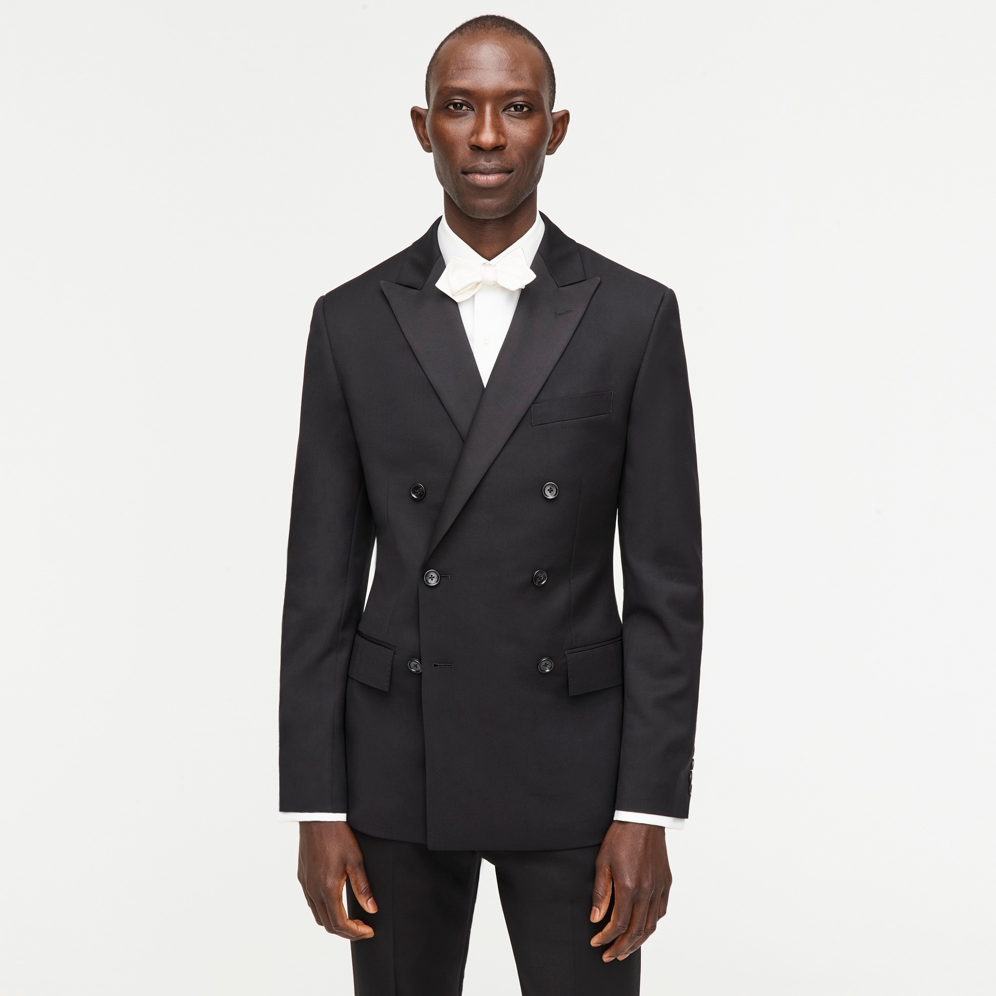 Ludlow double-breasted tuxedo jacket in Italian wool men blazers & vests c
