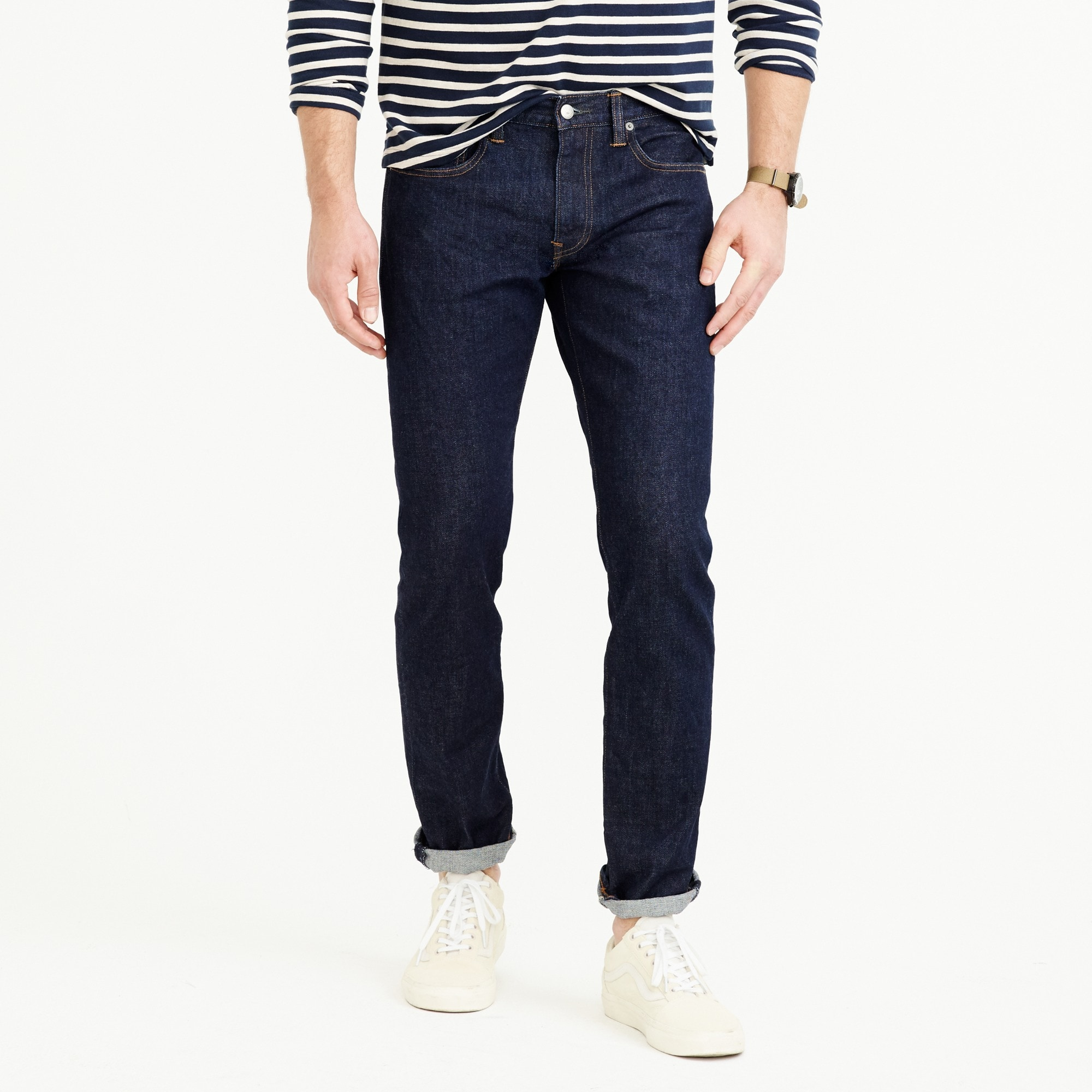 484 Slim-fit stretch jean in indigo men denim c