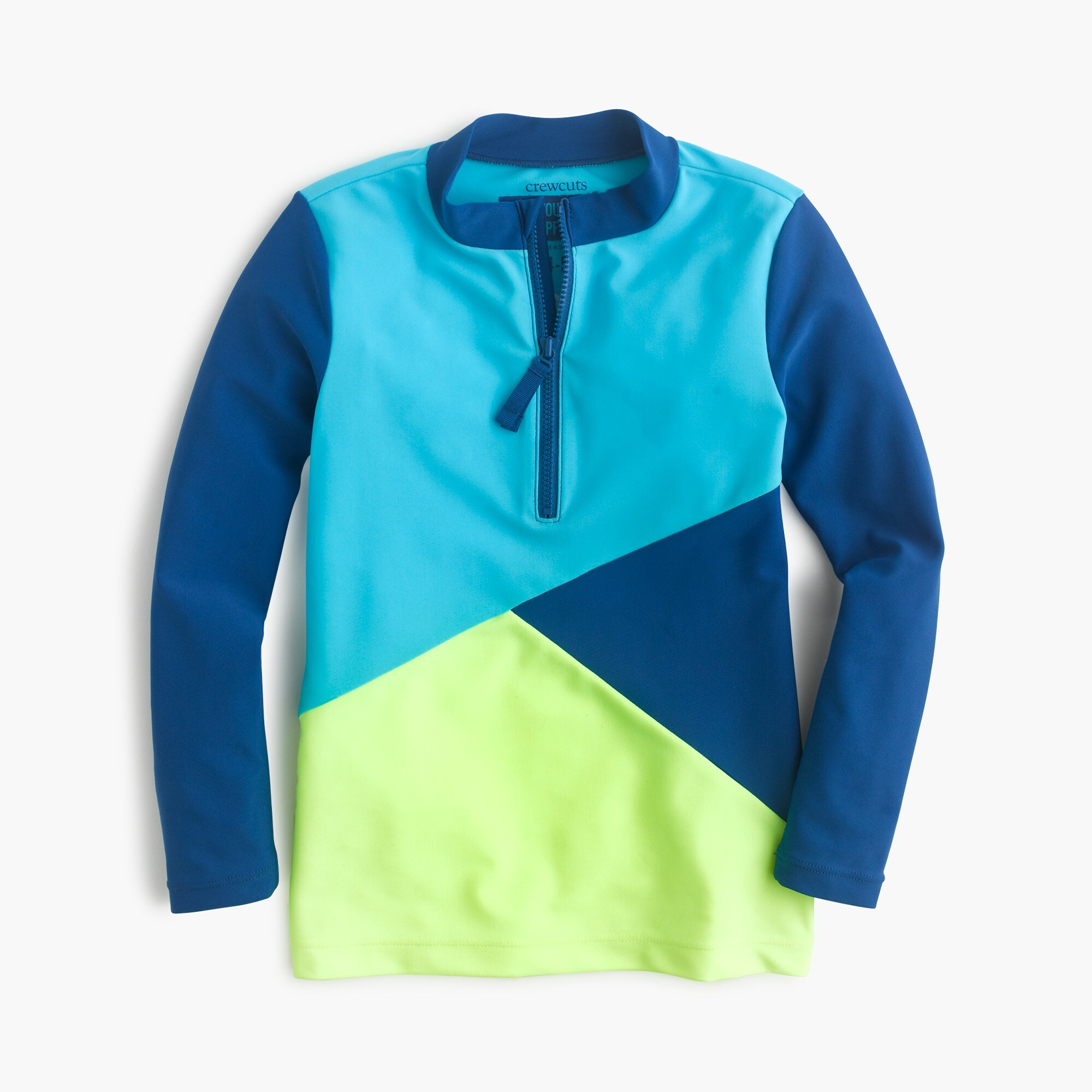 girls' colorblock rash guard : girl solids
