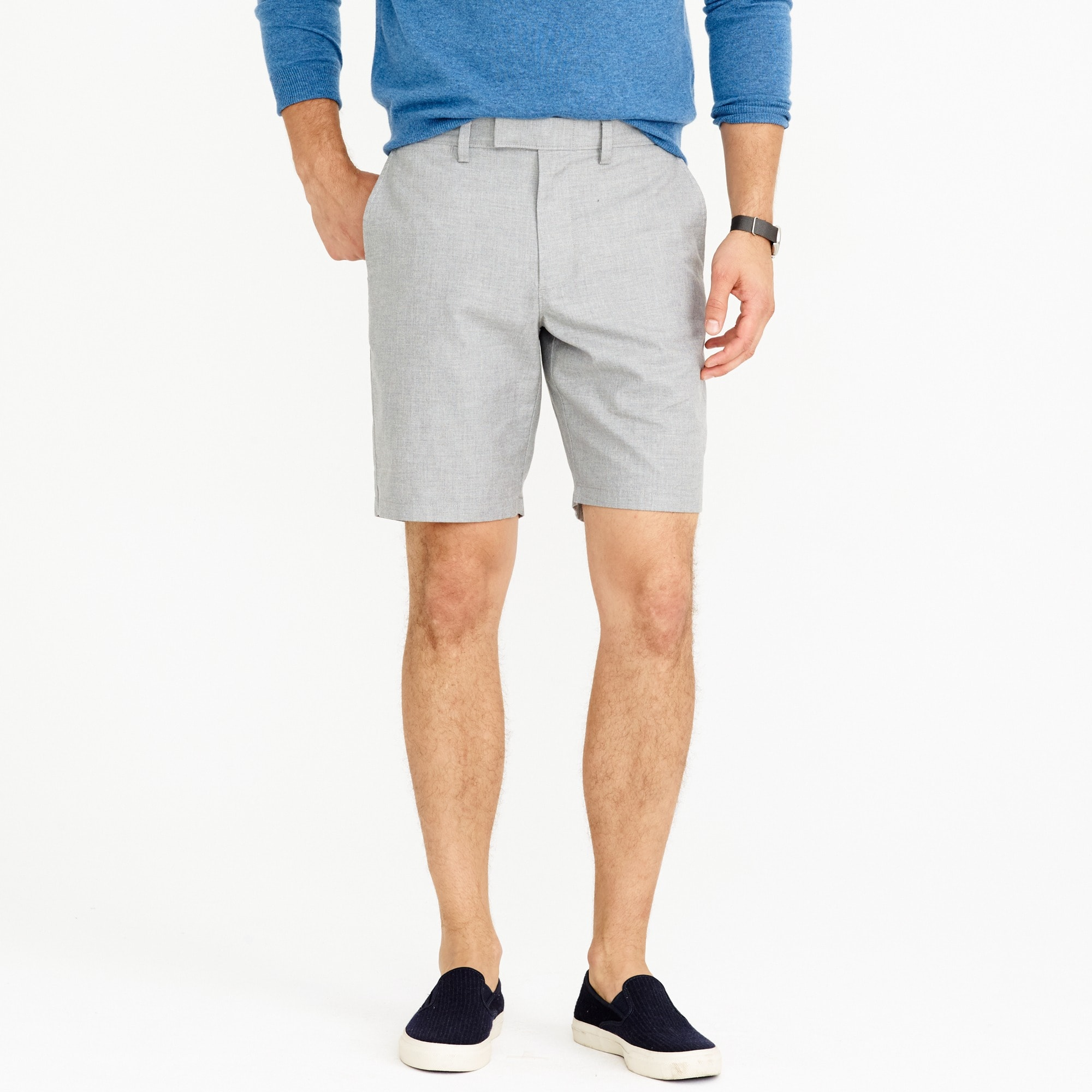 "9"" club short in heathered cotton : men's shorts"