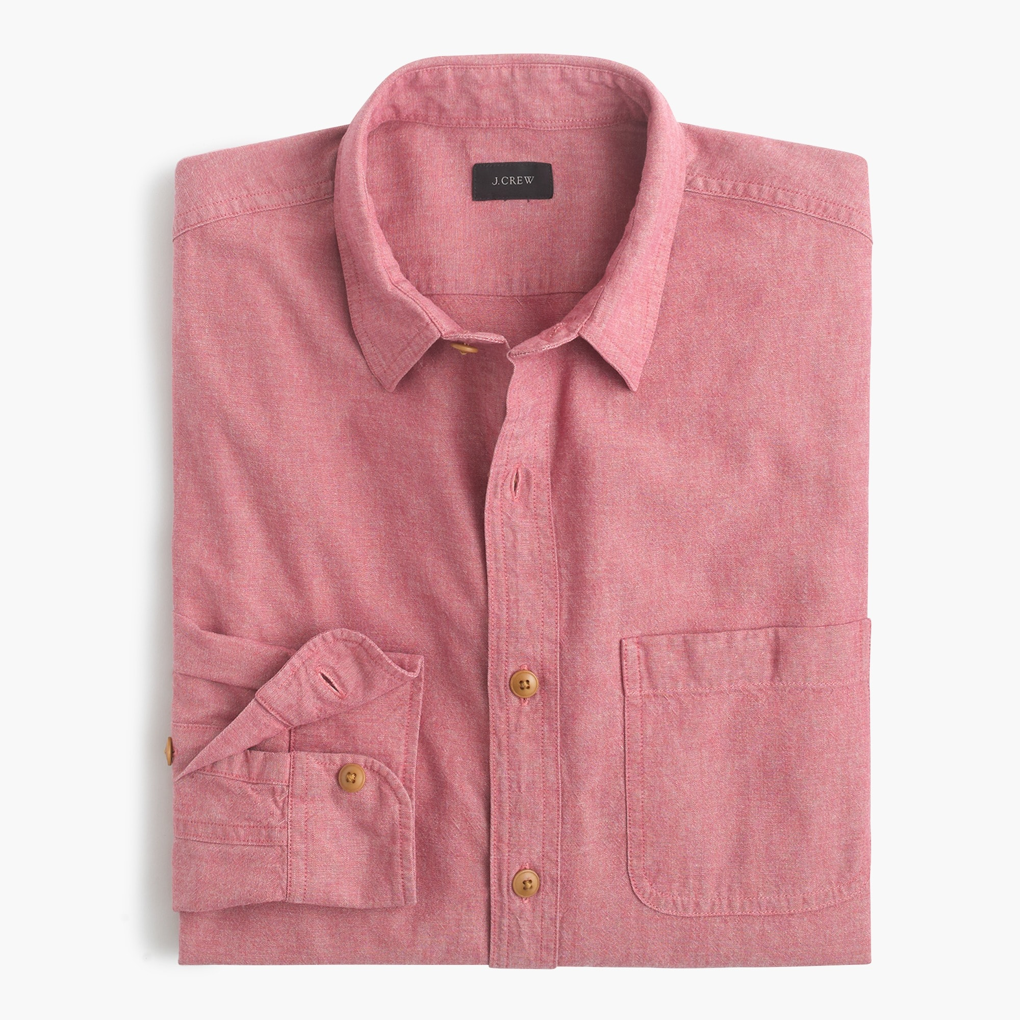 Slub cotton shirt in solid