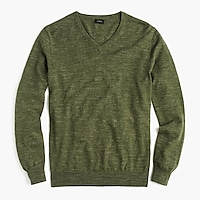 Slim rugged cotton V-neck sweater
