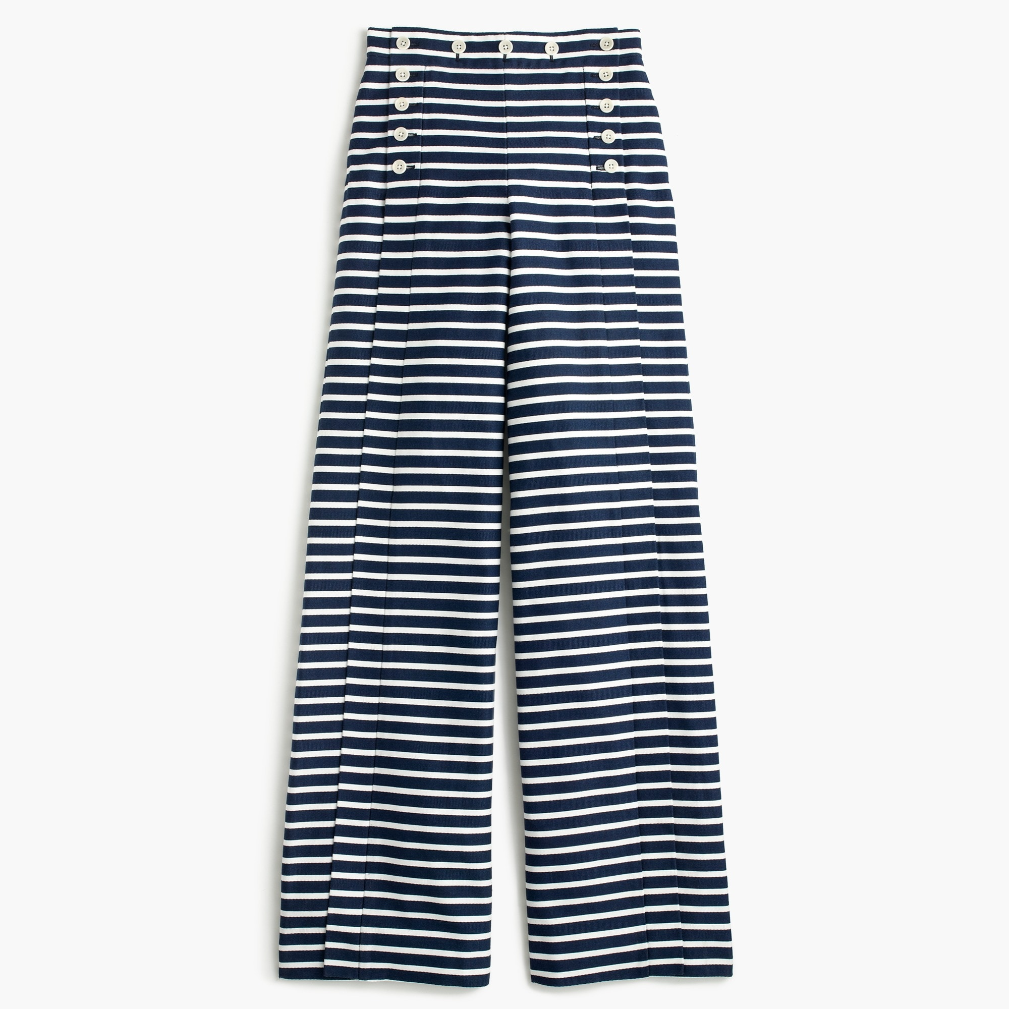 Petite striped sailor pant