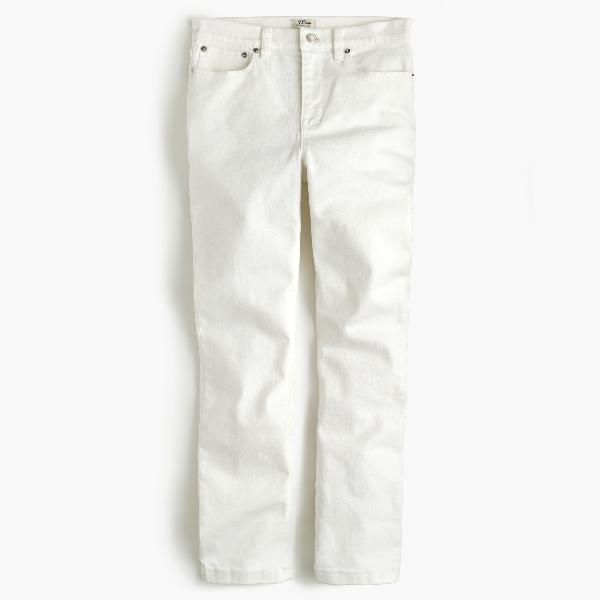 Tall Billie demi-boot crop jean in white