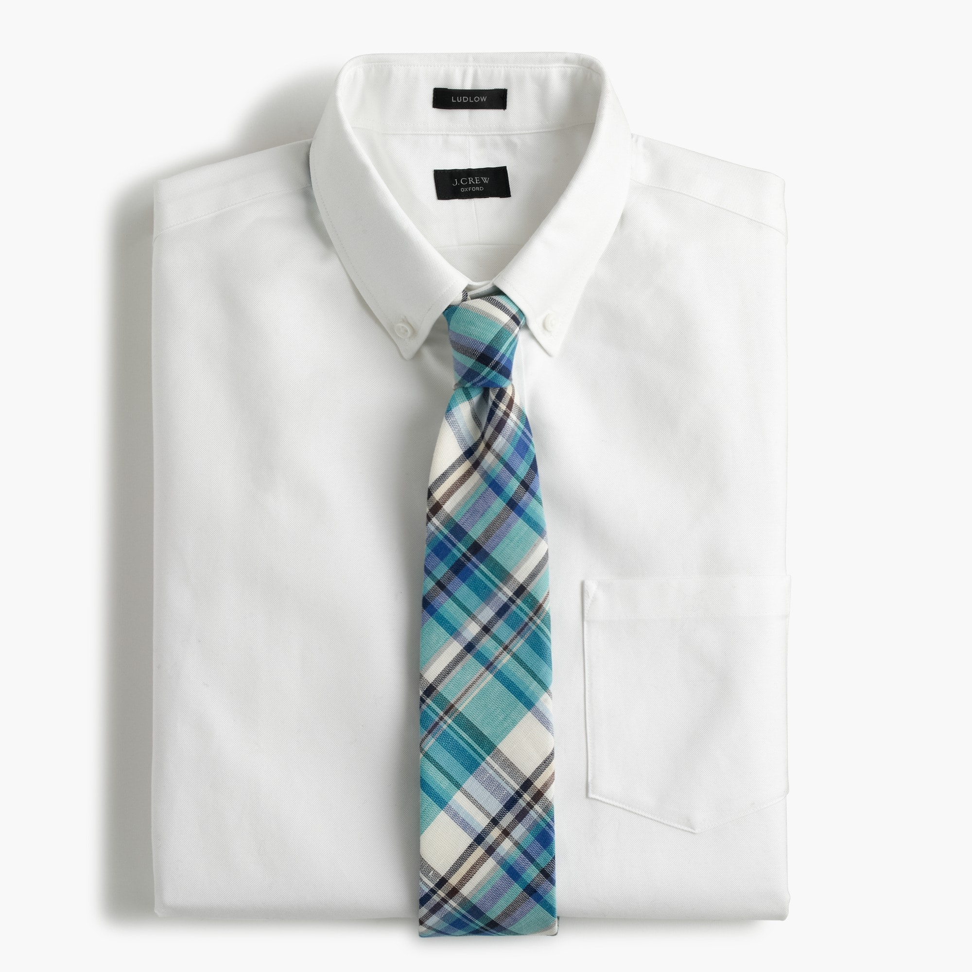 Image 2 for Ludlow Slim-fit cotton oxford shirt in white