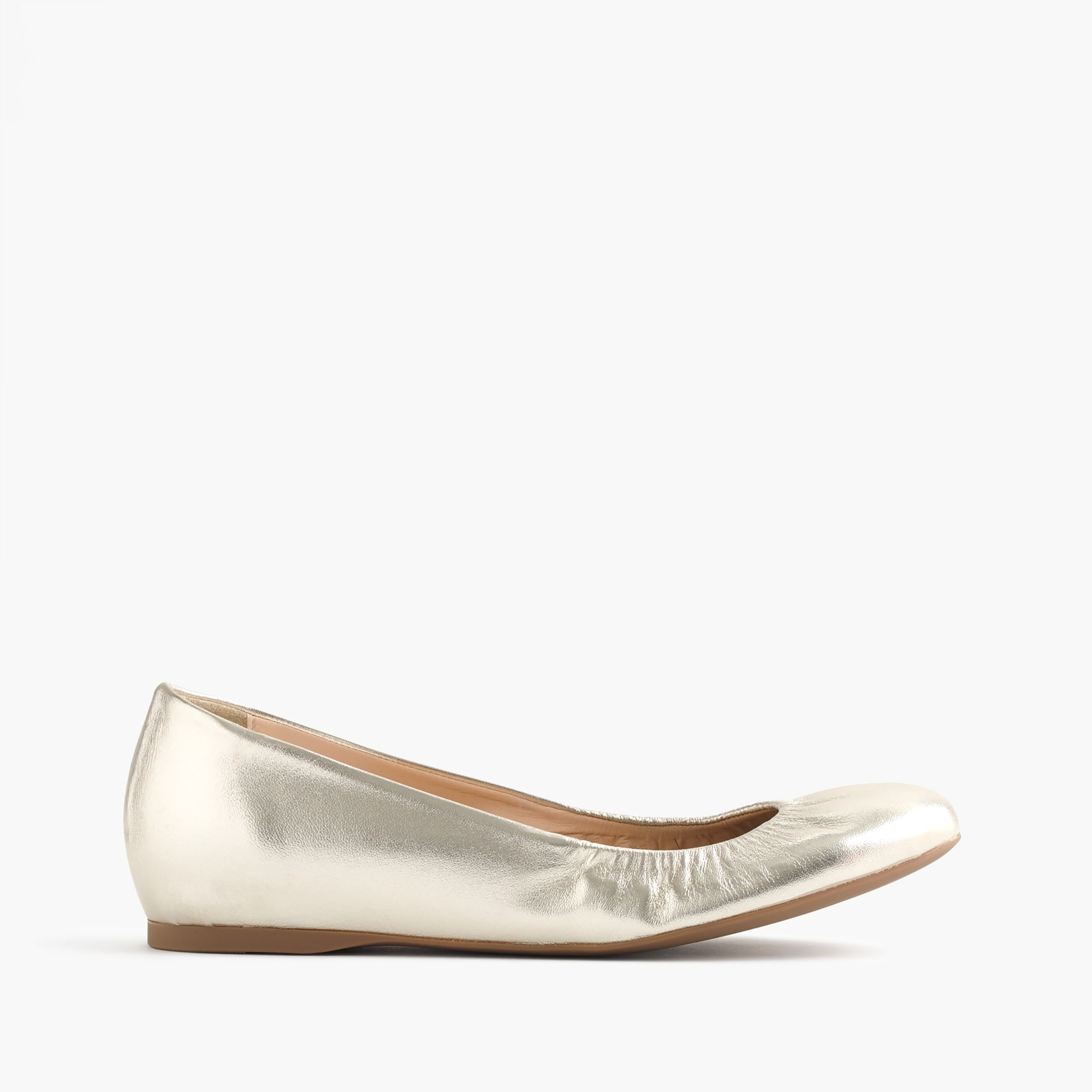 Cece Italian-made ballet flats in metallic leather