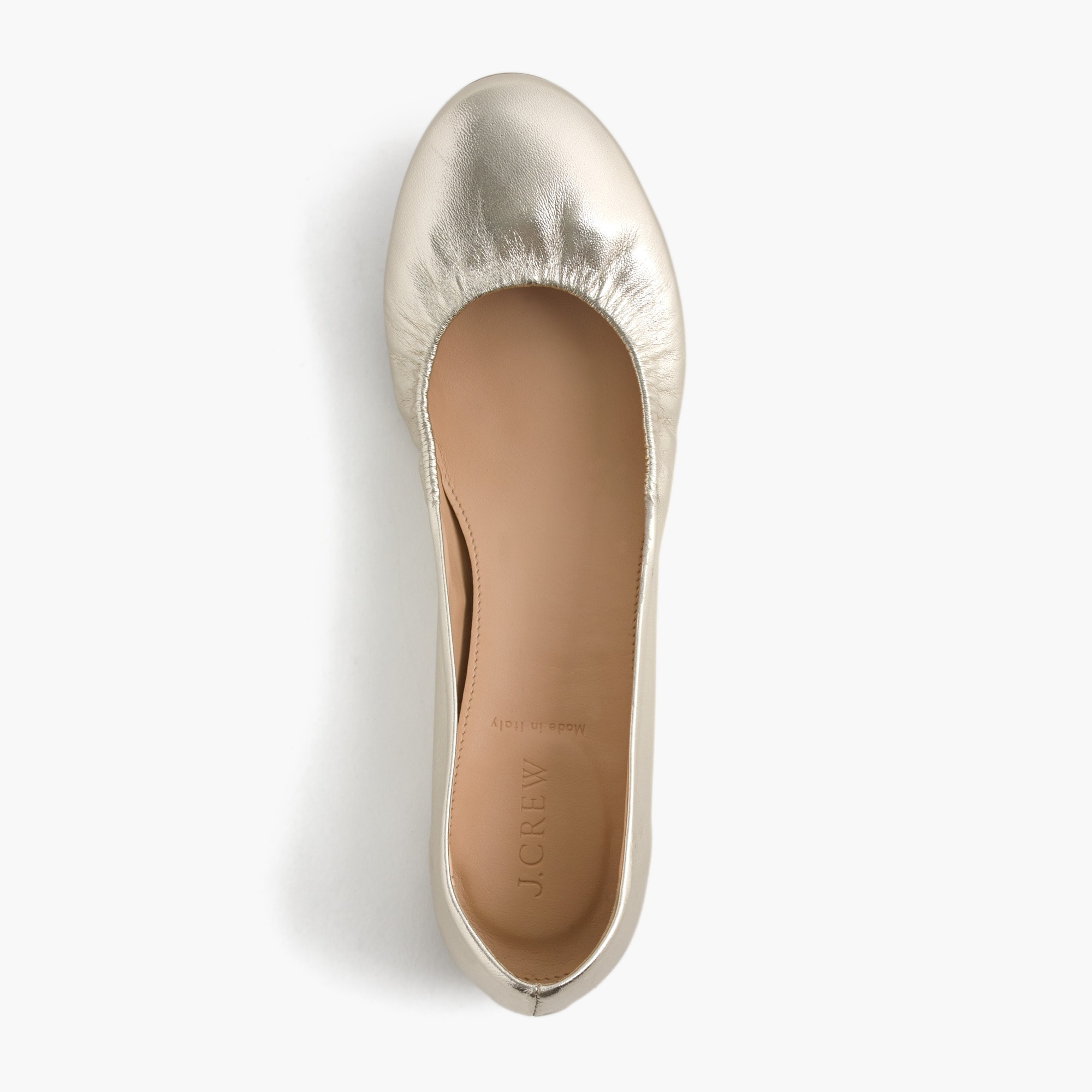 Image 1 for Cece Italian-made ballet flats in metallic leather