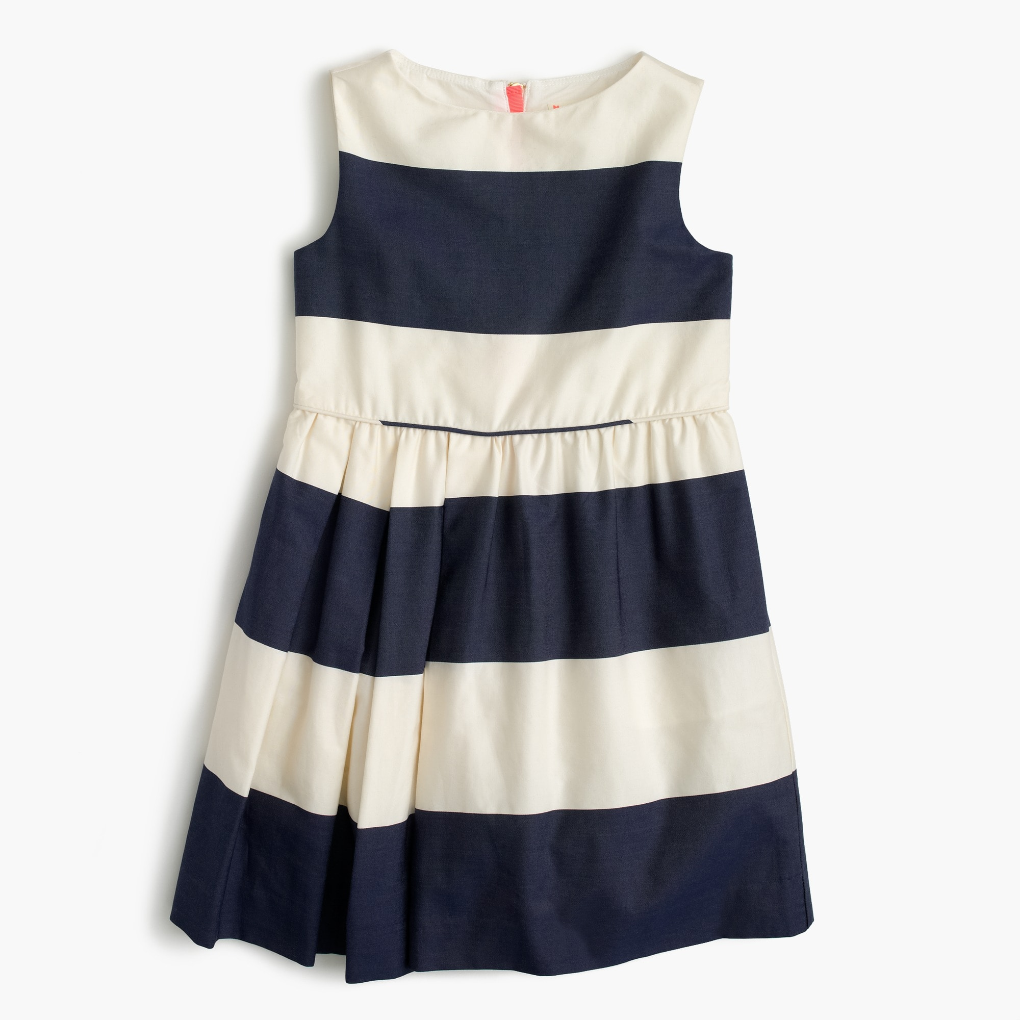 girls' sateen rugby-striped dress :