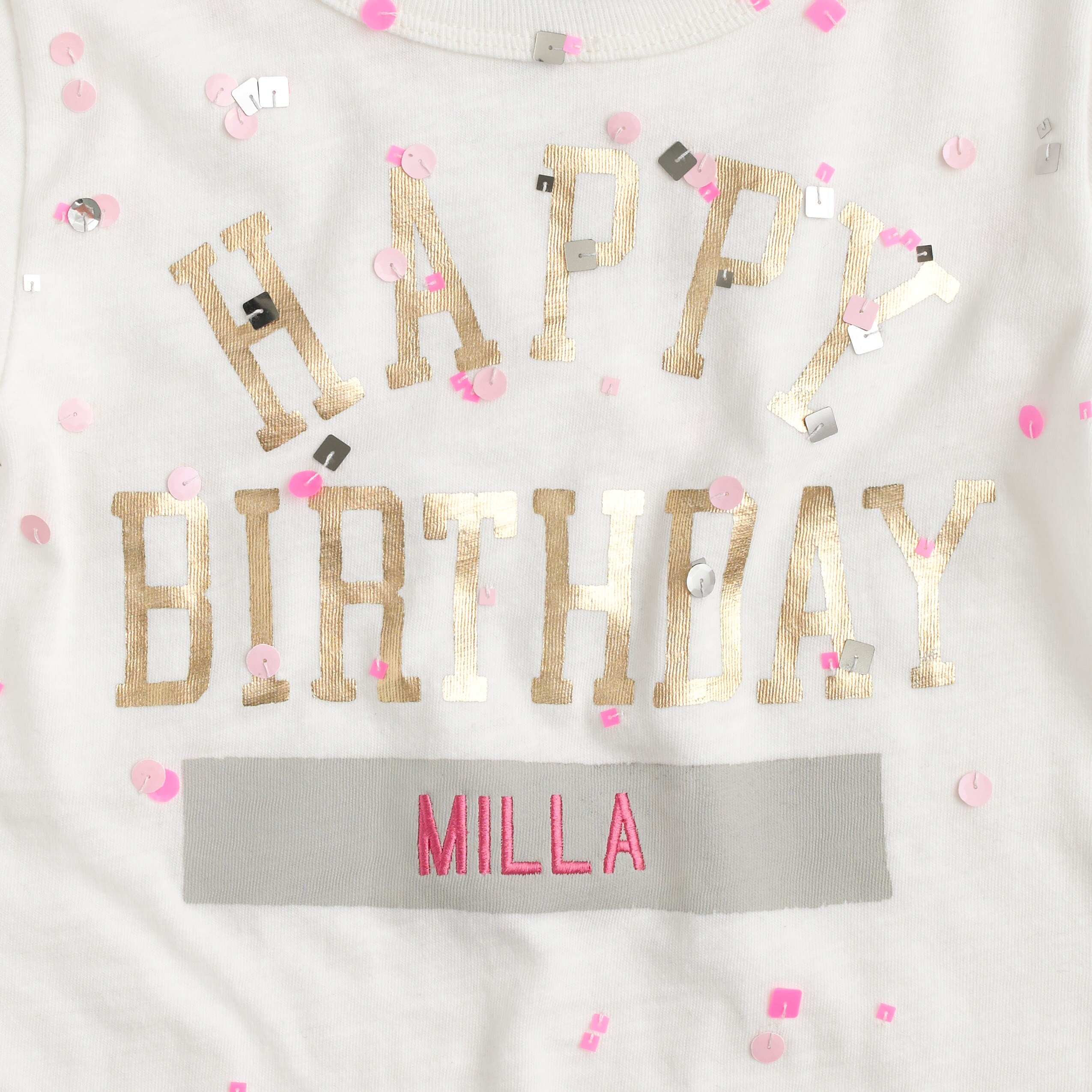 Girls' happy birthday T-shirt