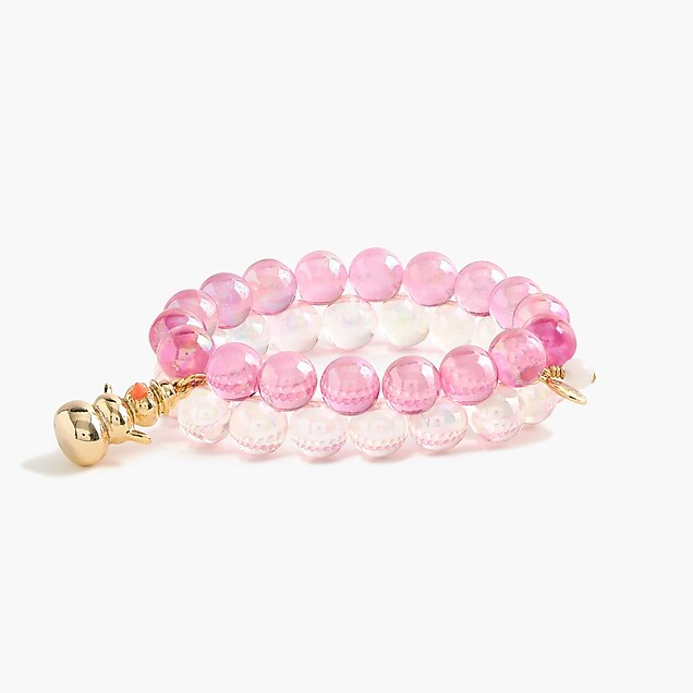 Girls' winter gumball bracelet