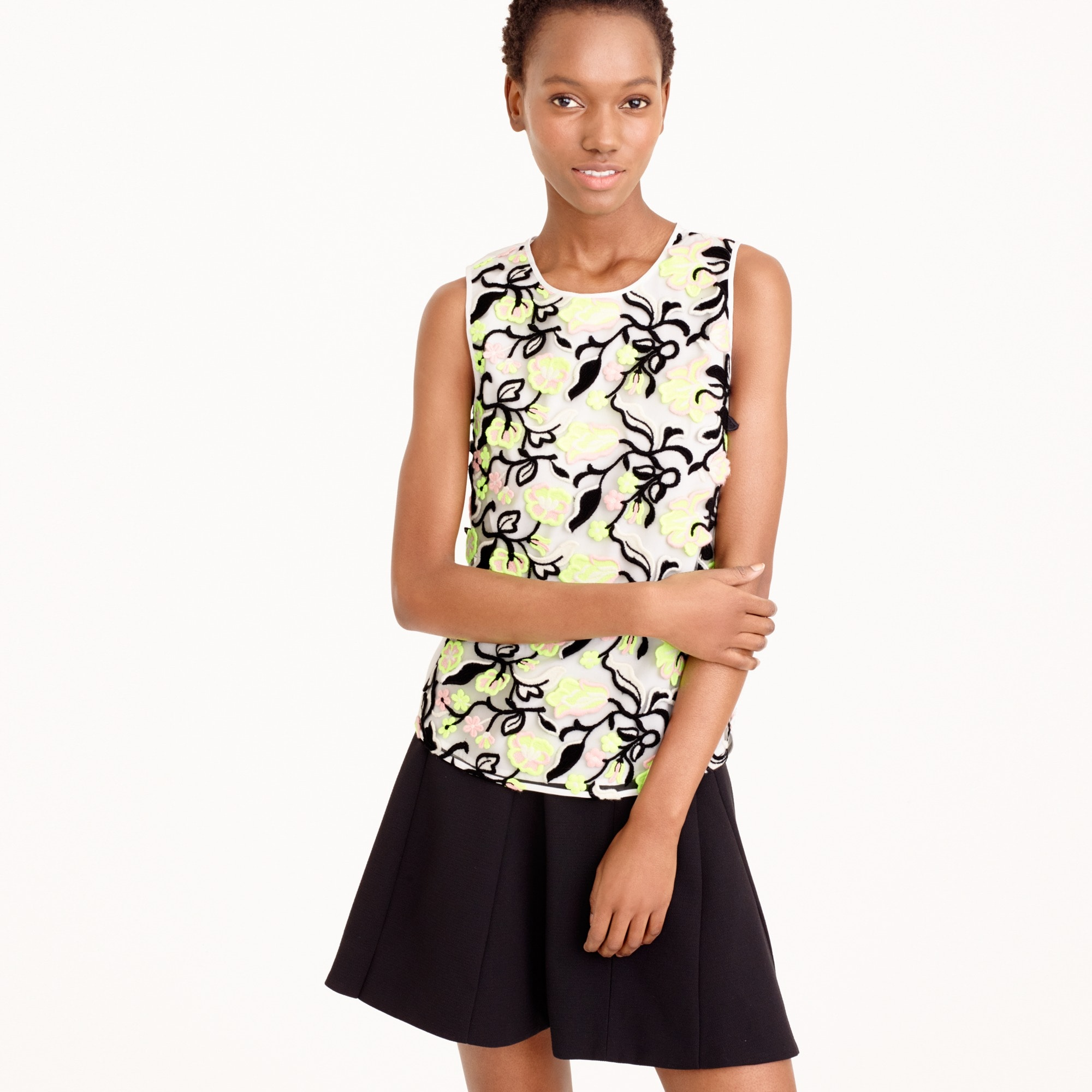 collection sleeveless top in italian lace : women j.crew collection
