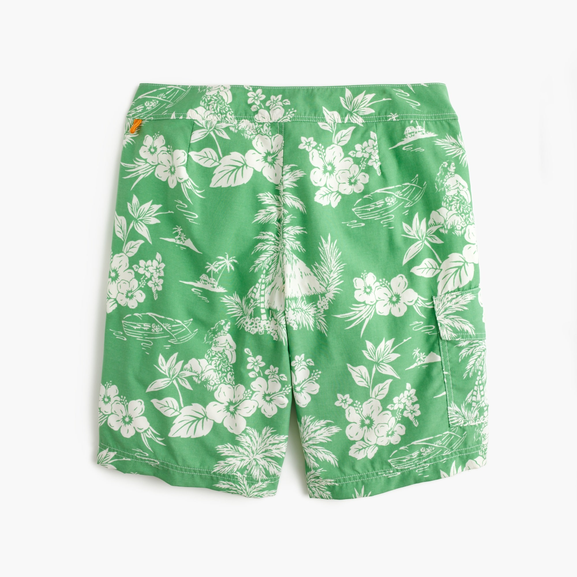 "9"" board short in tropical floral"