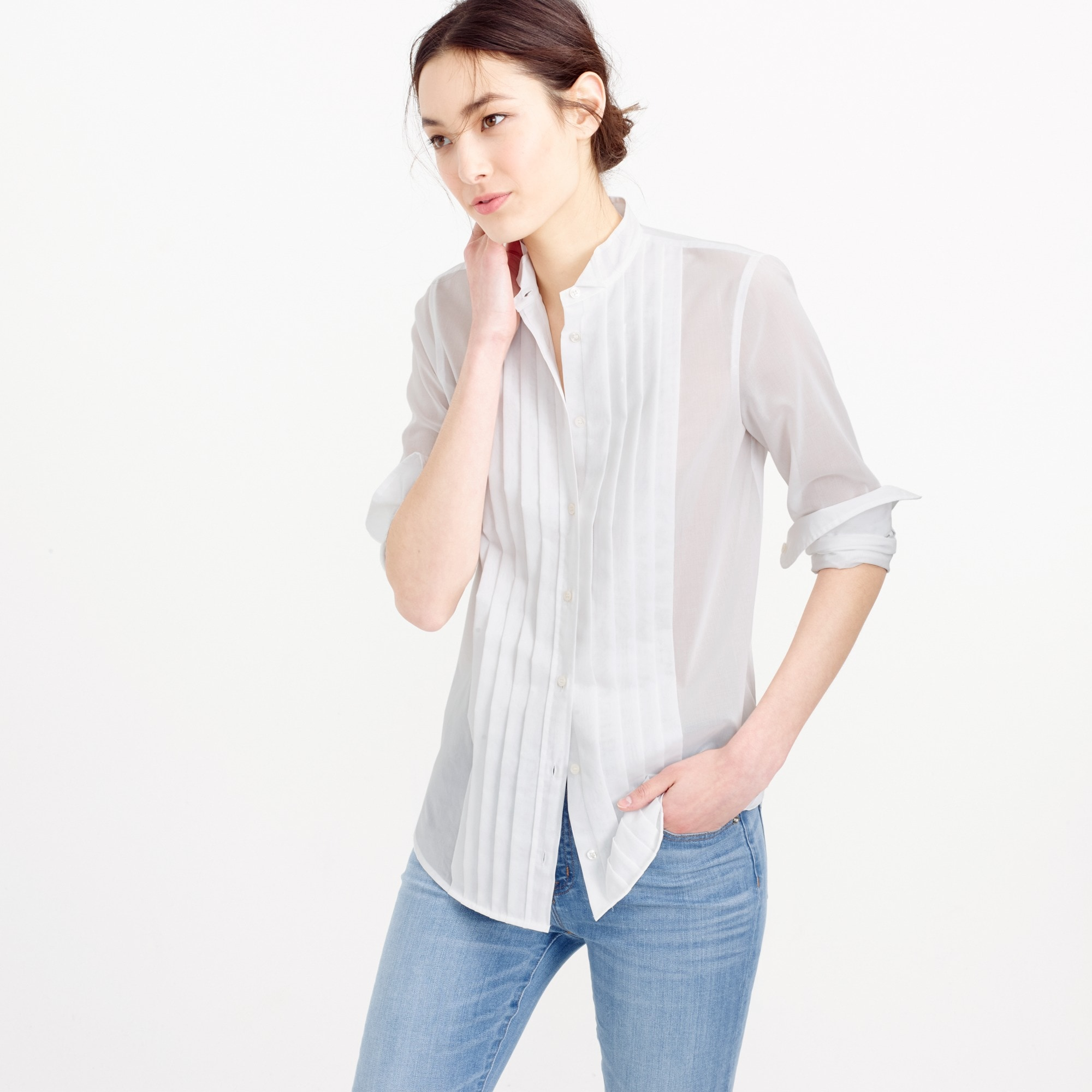 Collection Thomas Mason® tuxedo shirt in cotton voile women j.crew in good company c