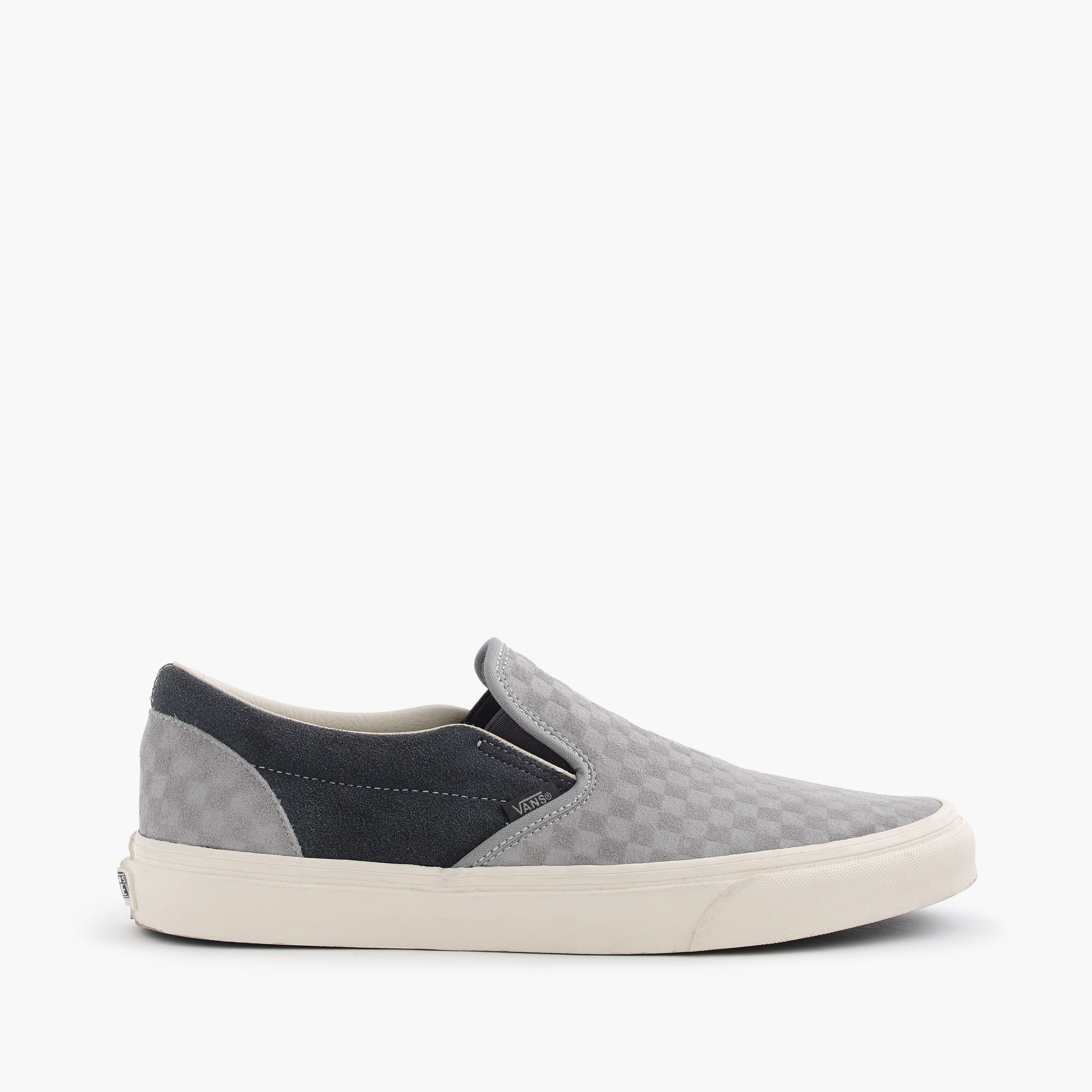vans® for j.crew suede slip-on sneakers in embossed checkerboard : men sneakers