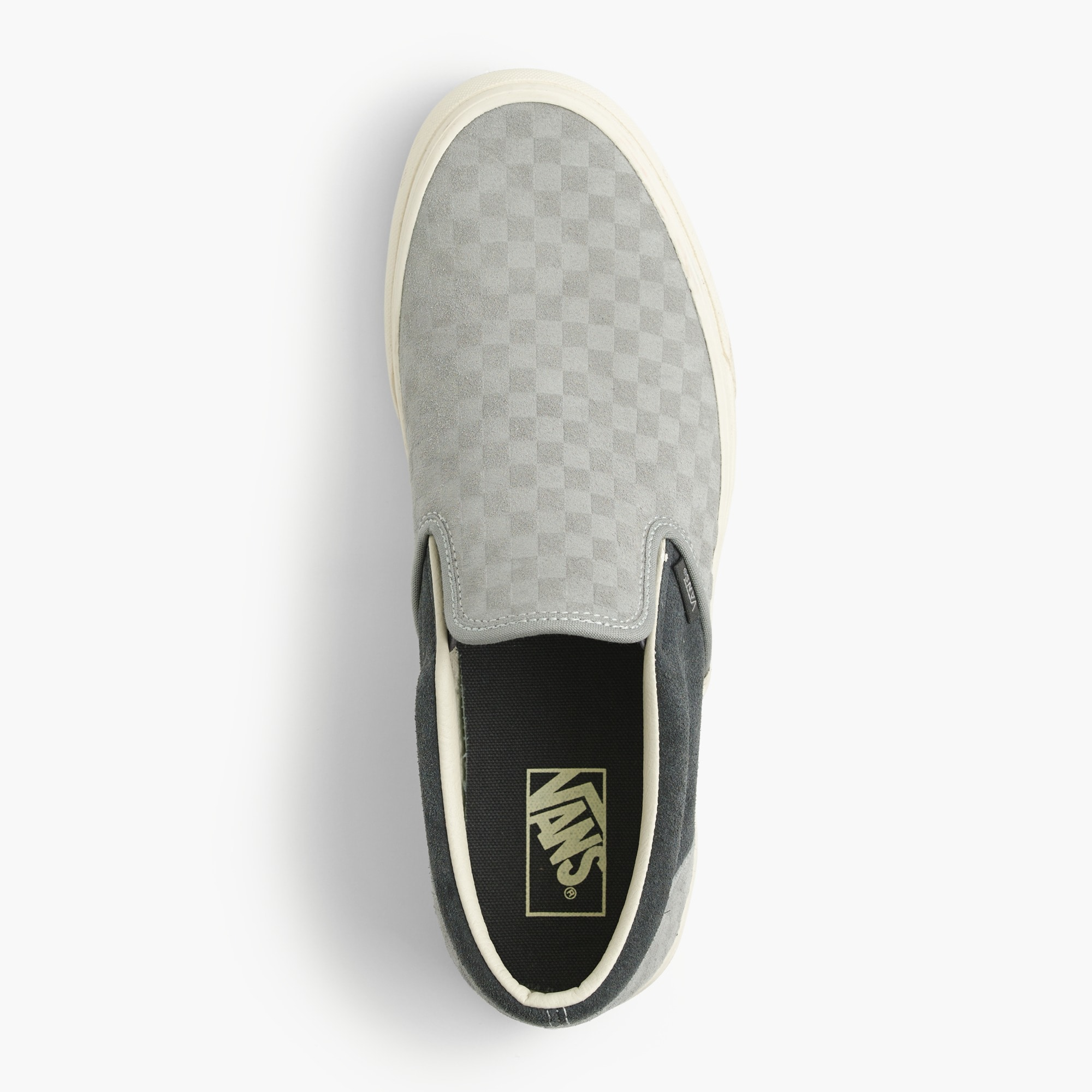 Vans® for J.Crew suede slip-on sneakers in embossed checkerboard