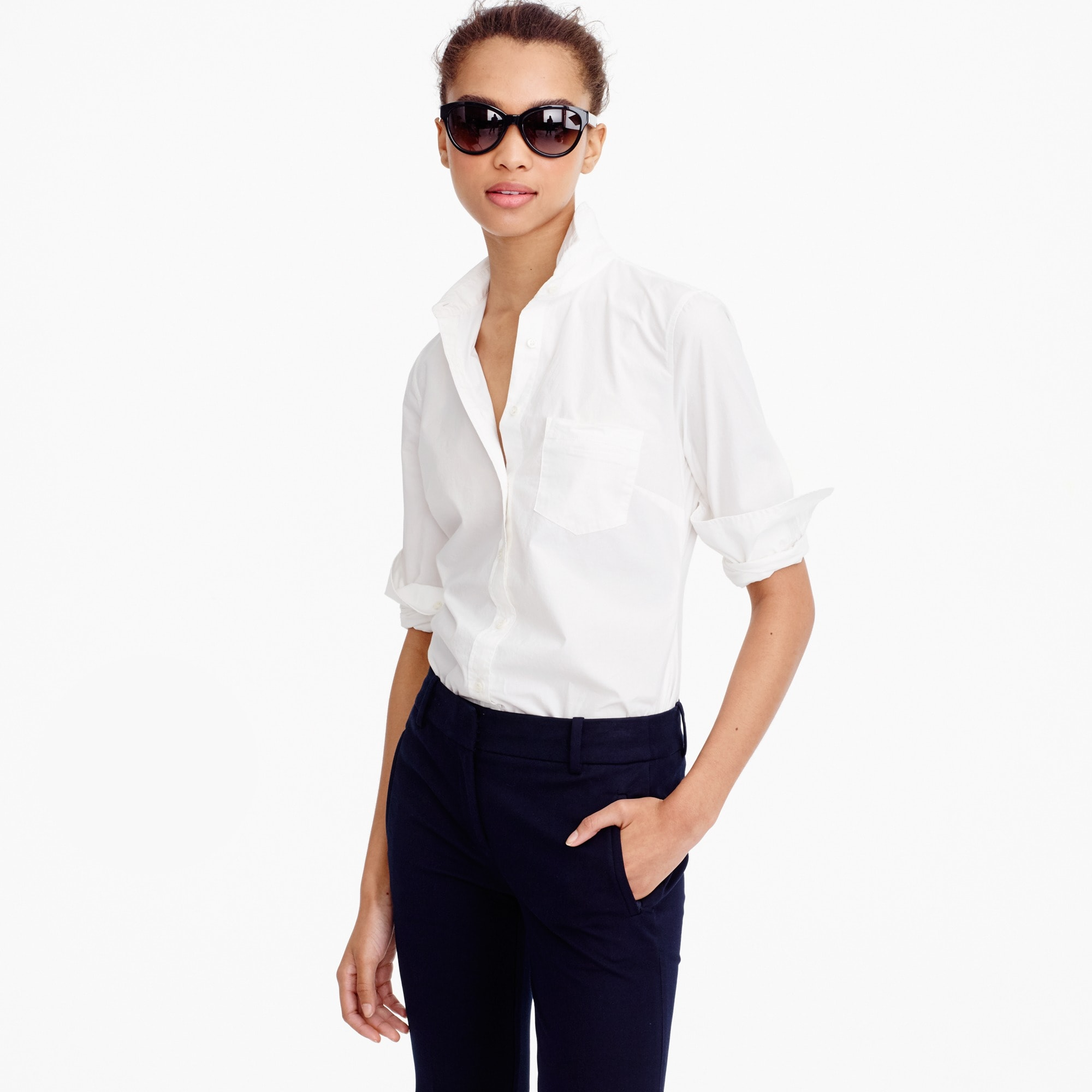 Tall new perfect shirt in cotton poplin