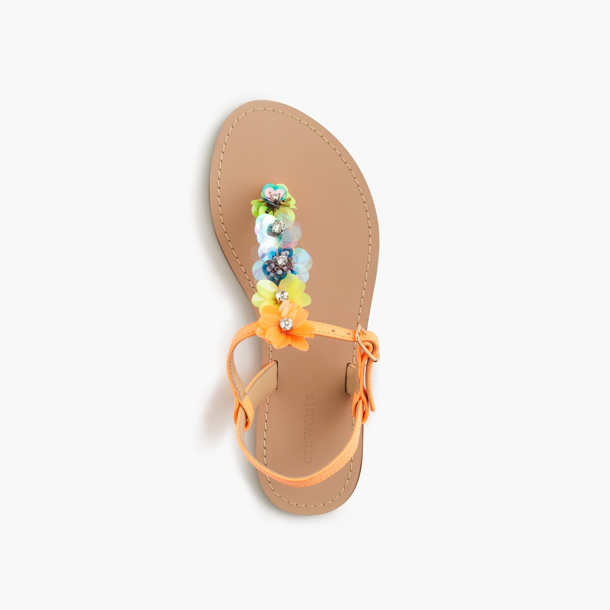 Image 2 for Girls' embellished T-strap sandals