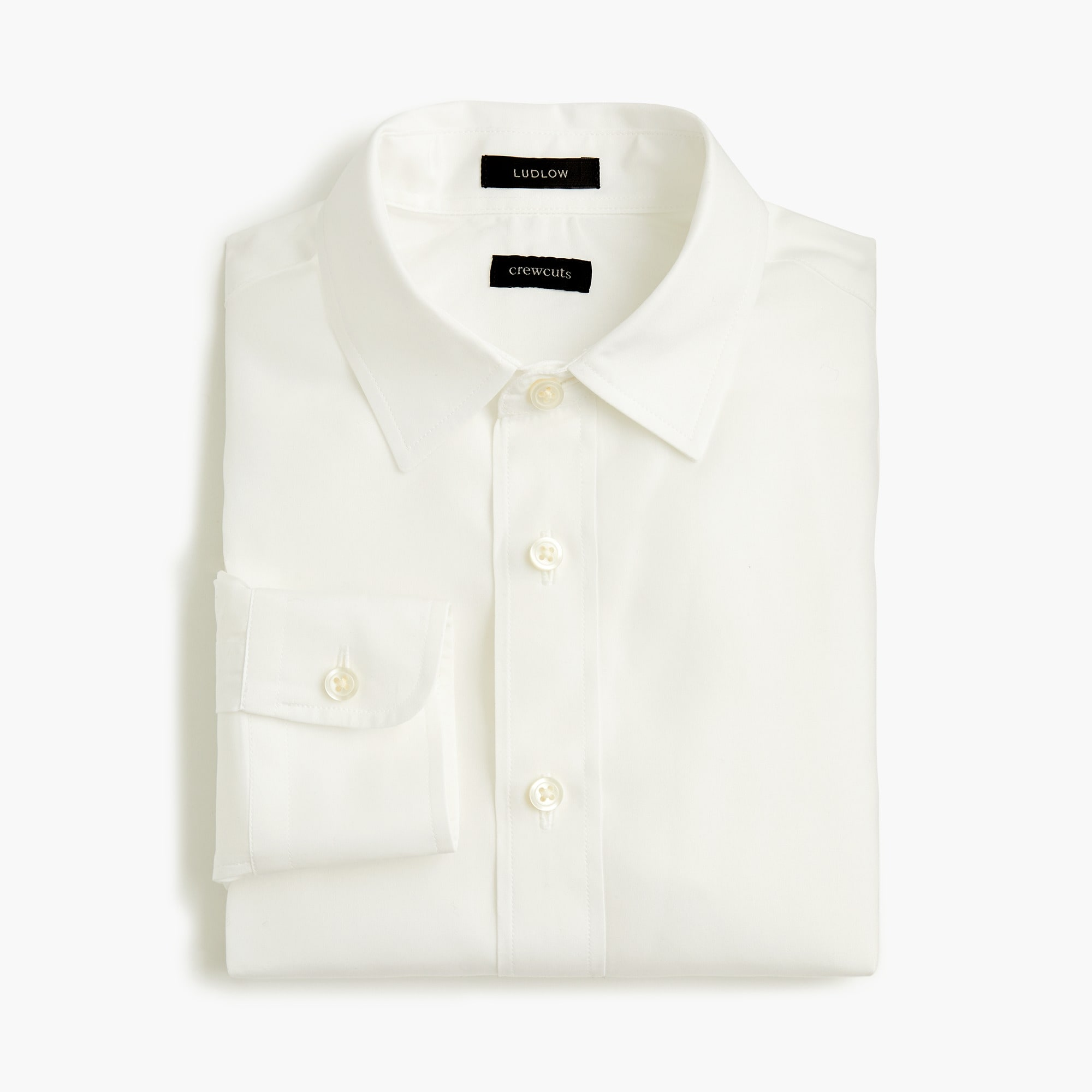 boys' point-collar solid ludlow shirt - boys' tops