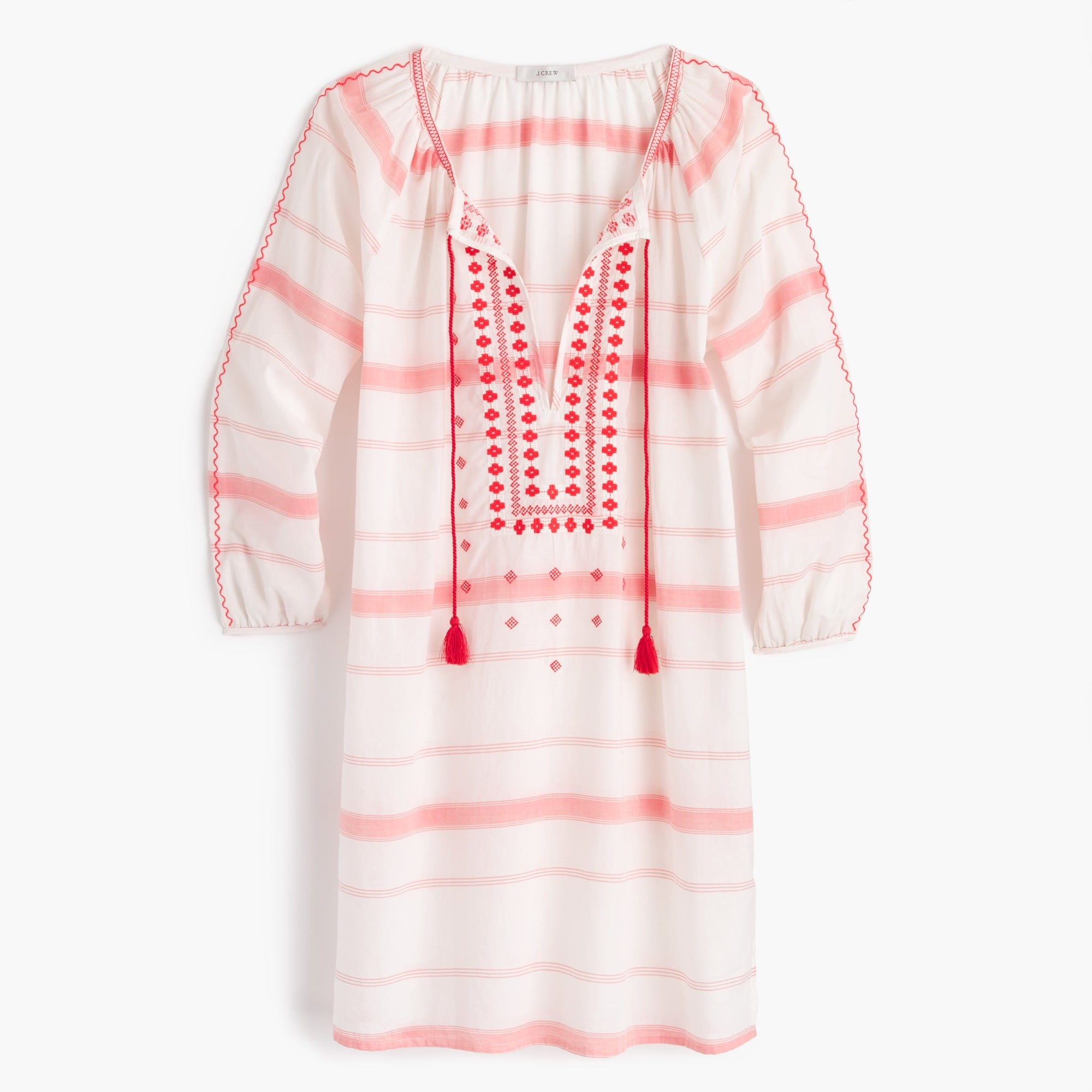 embroidered striped tunic : women beachcoverups