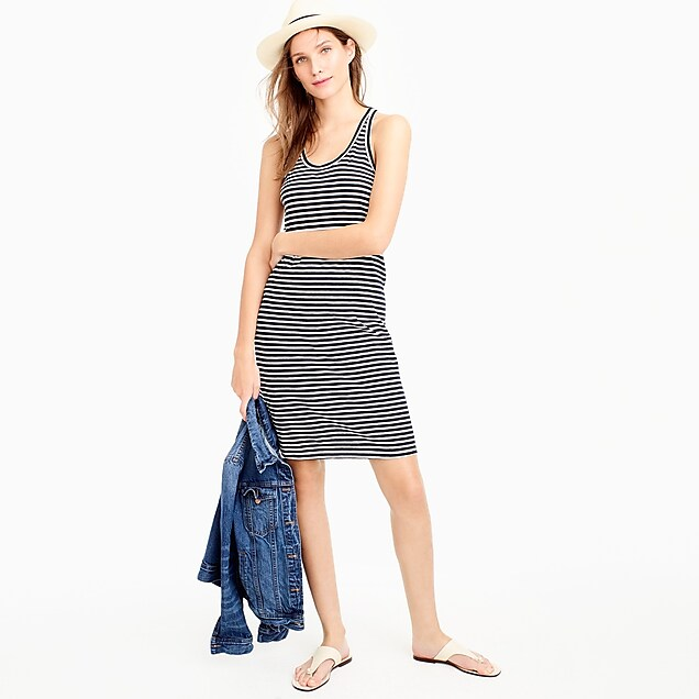 Racerback tank dress in stripe