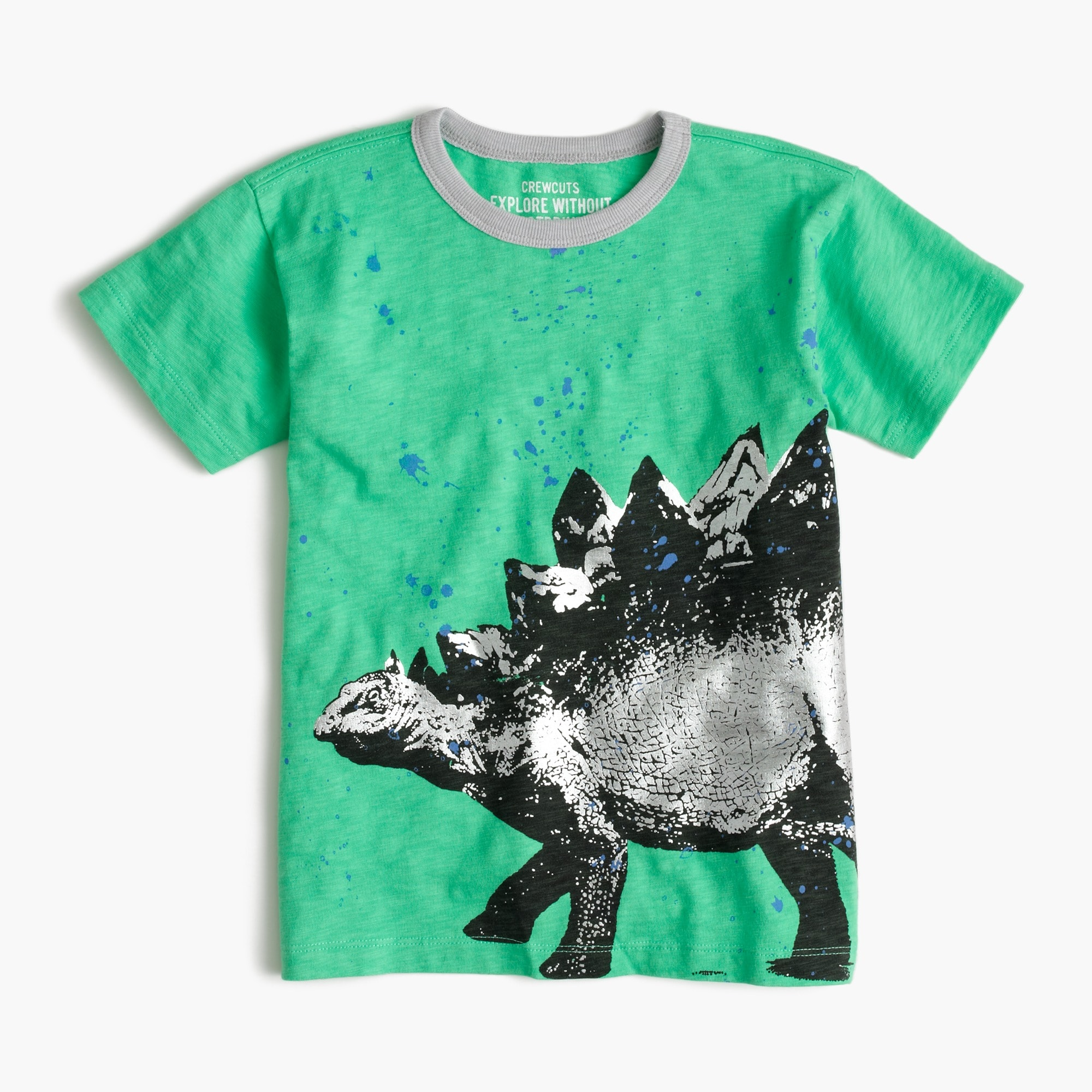 Image 1 for Boys' stegosaurus splatter T-shirt